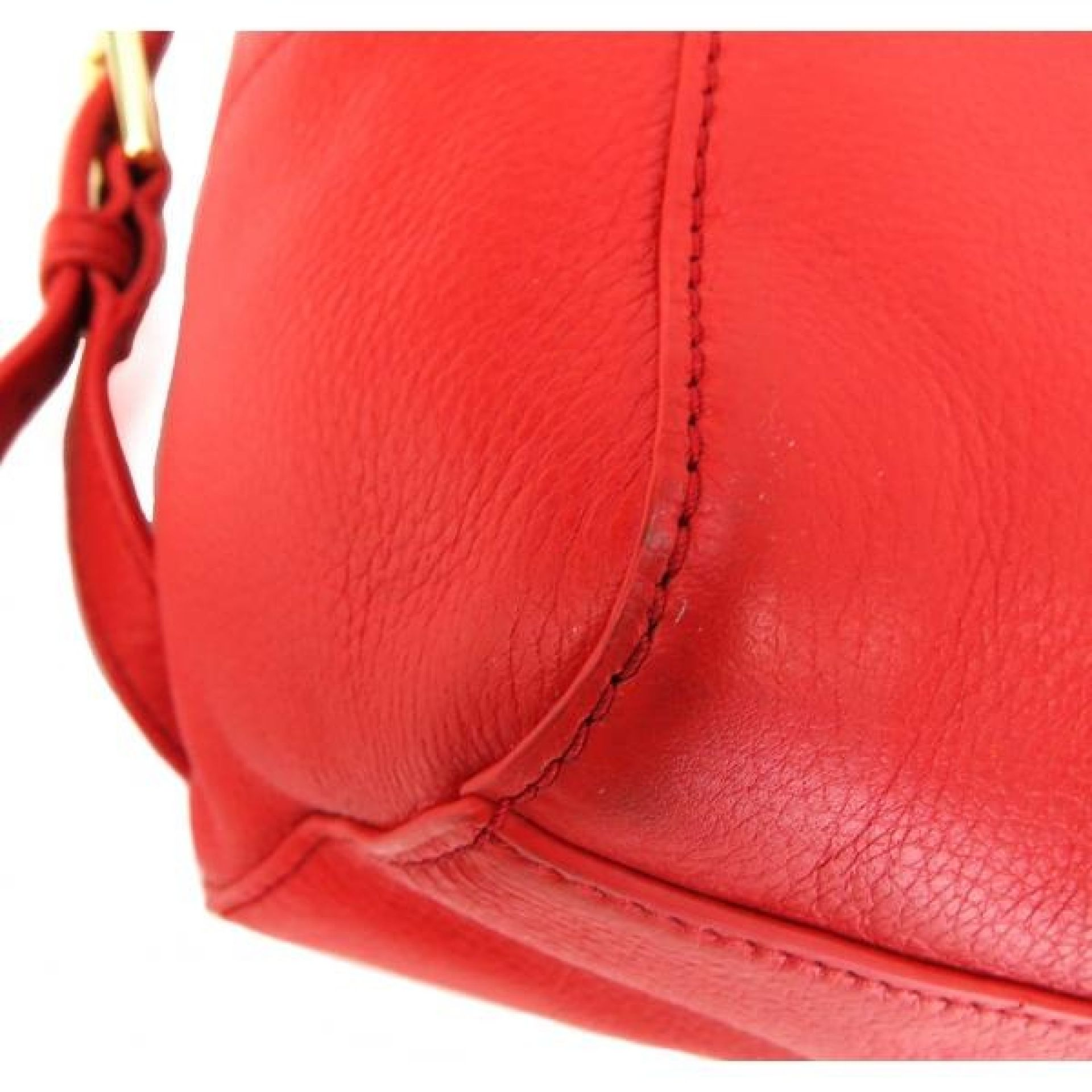 Tory Burch Red Leather Mini Thea Backpack Bag