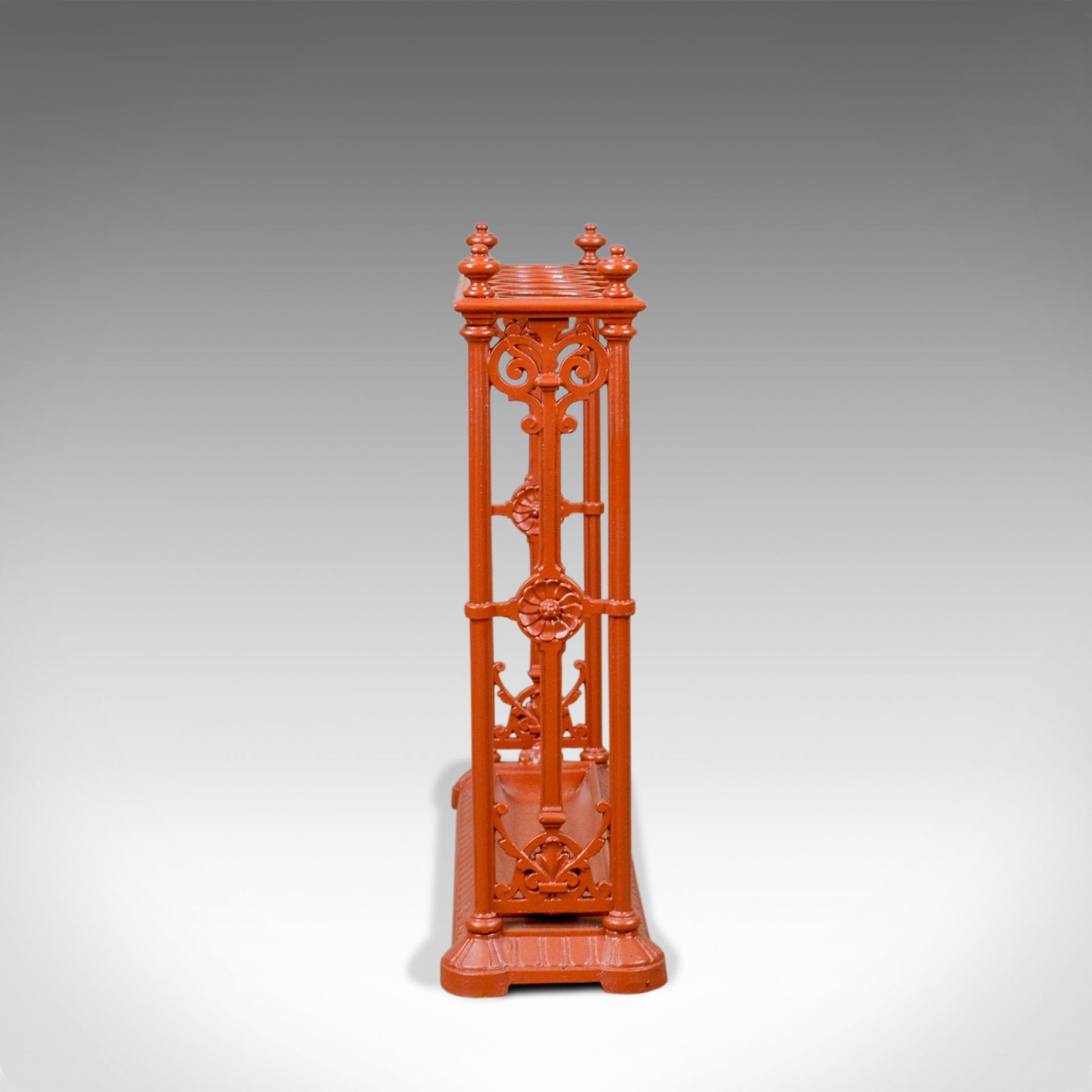 Antique Umbrella Stand, English, Victorian, Coalbrookdale, Hall, Stick, c.1890