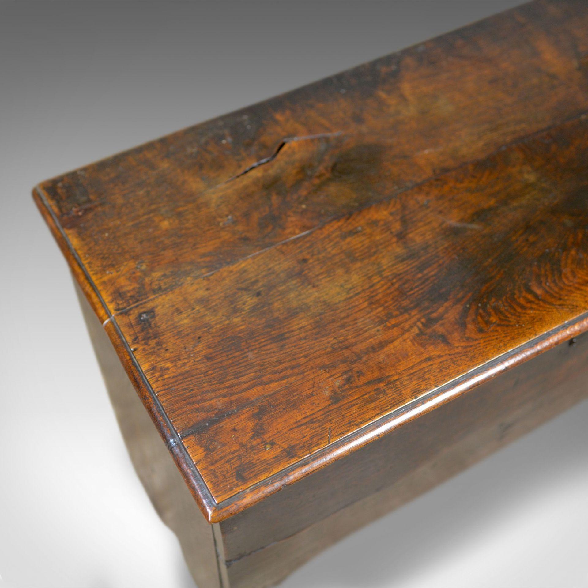 Antique Coffer, 6 Plank Sword Chest, English, Oak, 17th Century, Circa 1660
