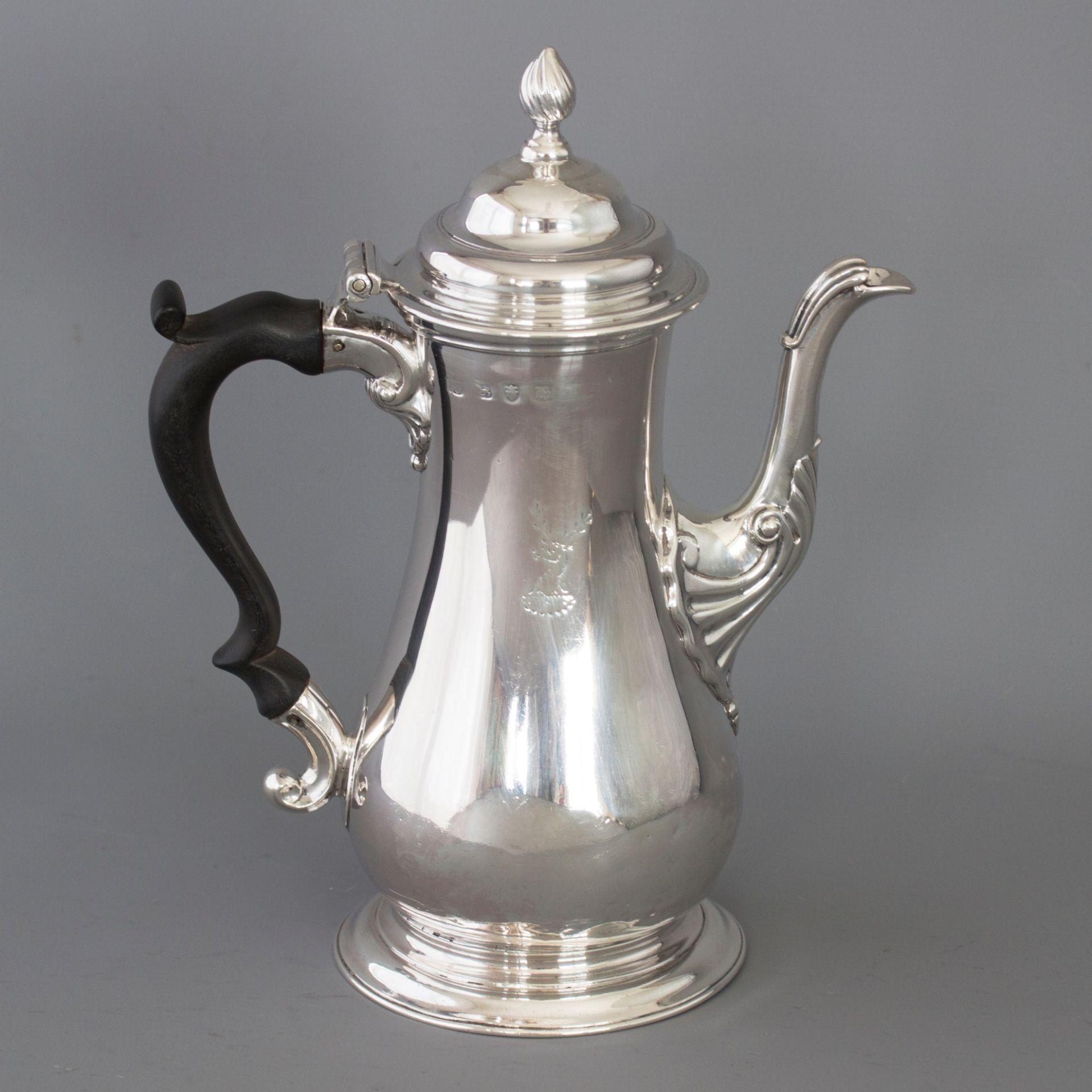 A George III Silver Coffee Pot London 1763 by William Grundy