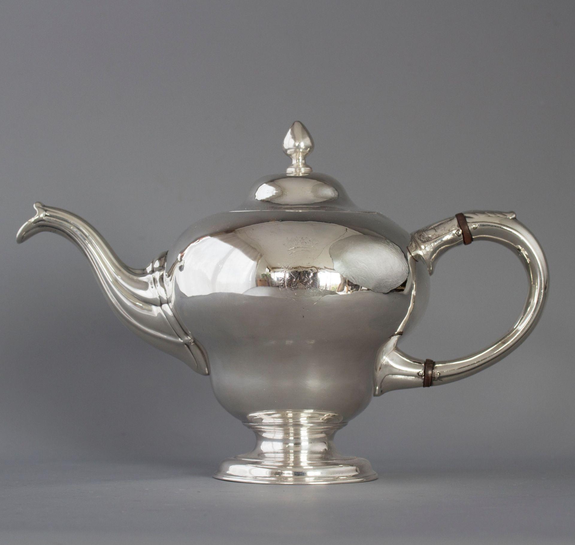 A Superb George II Scottish Silver Teapot, by Edward Lothian, Edinburgh 1749
