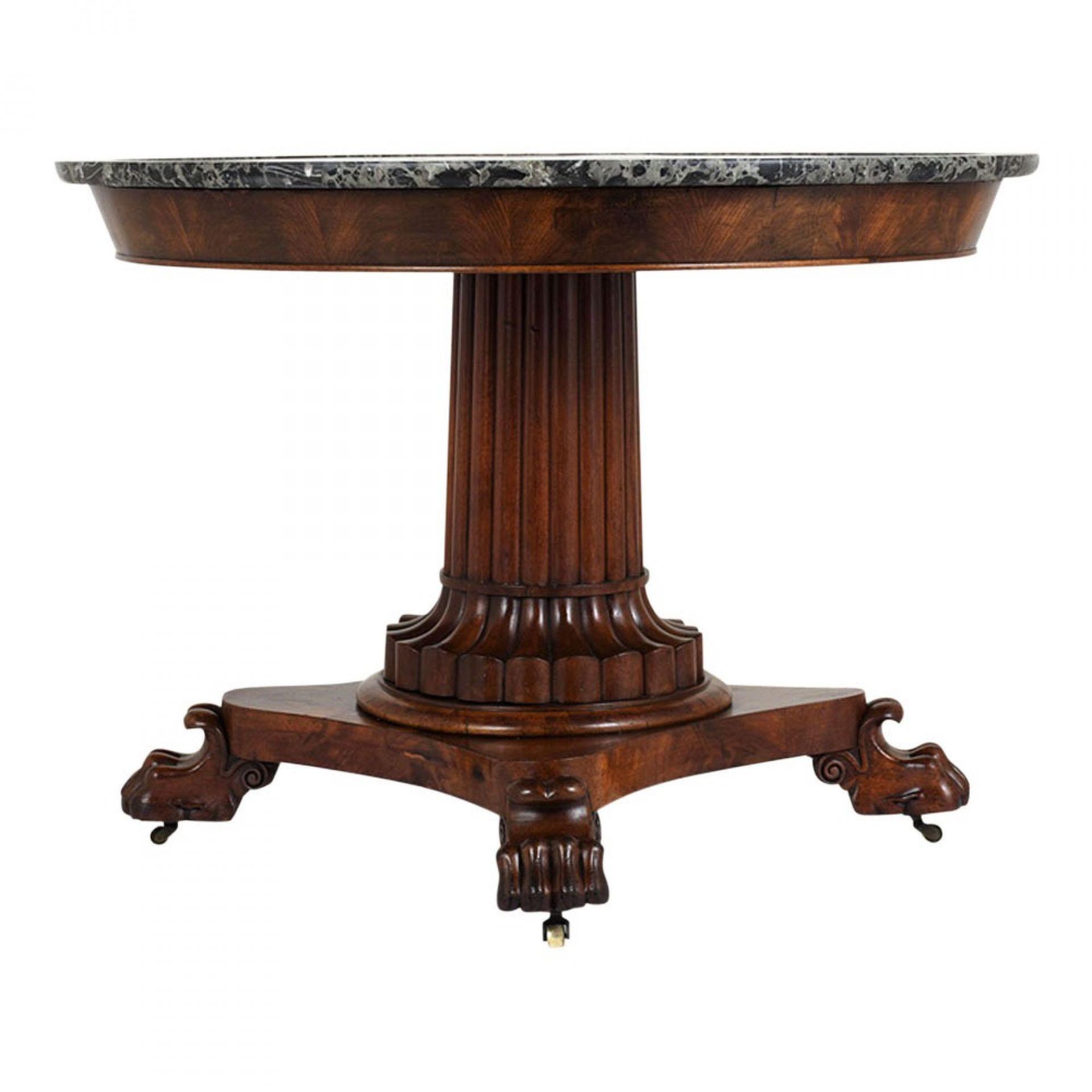 Circa 1840's Mahogany Empire Center Table