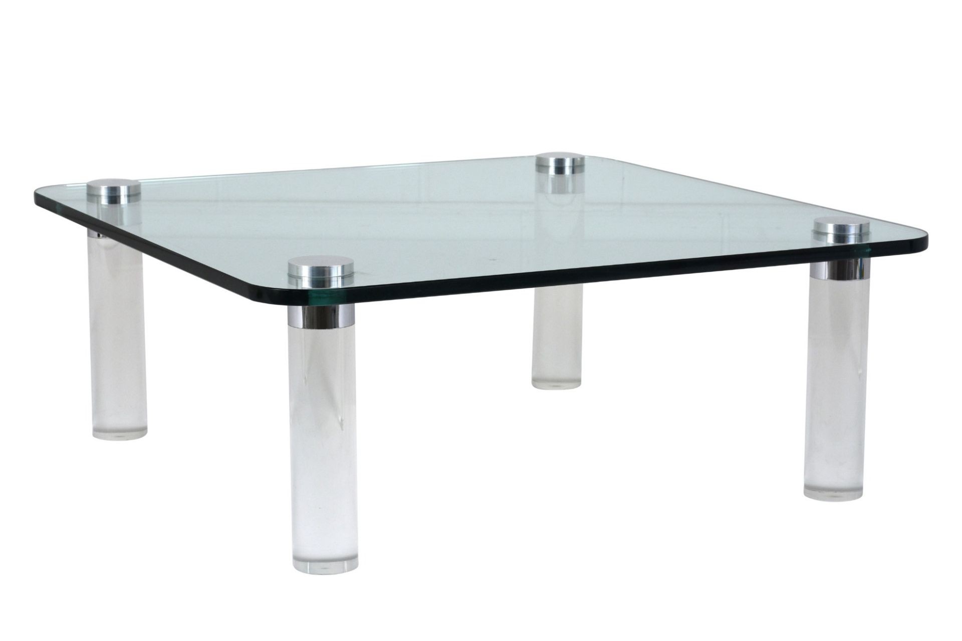 Mid-Century Modern Style Lucite and Glass Coffee Table