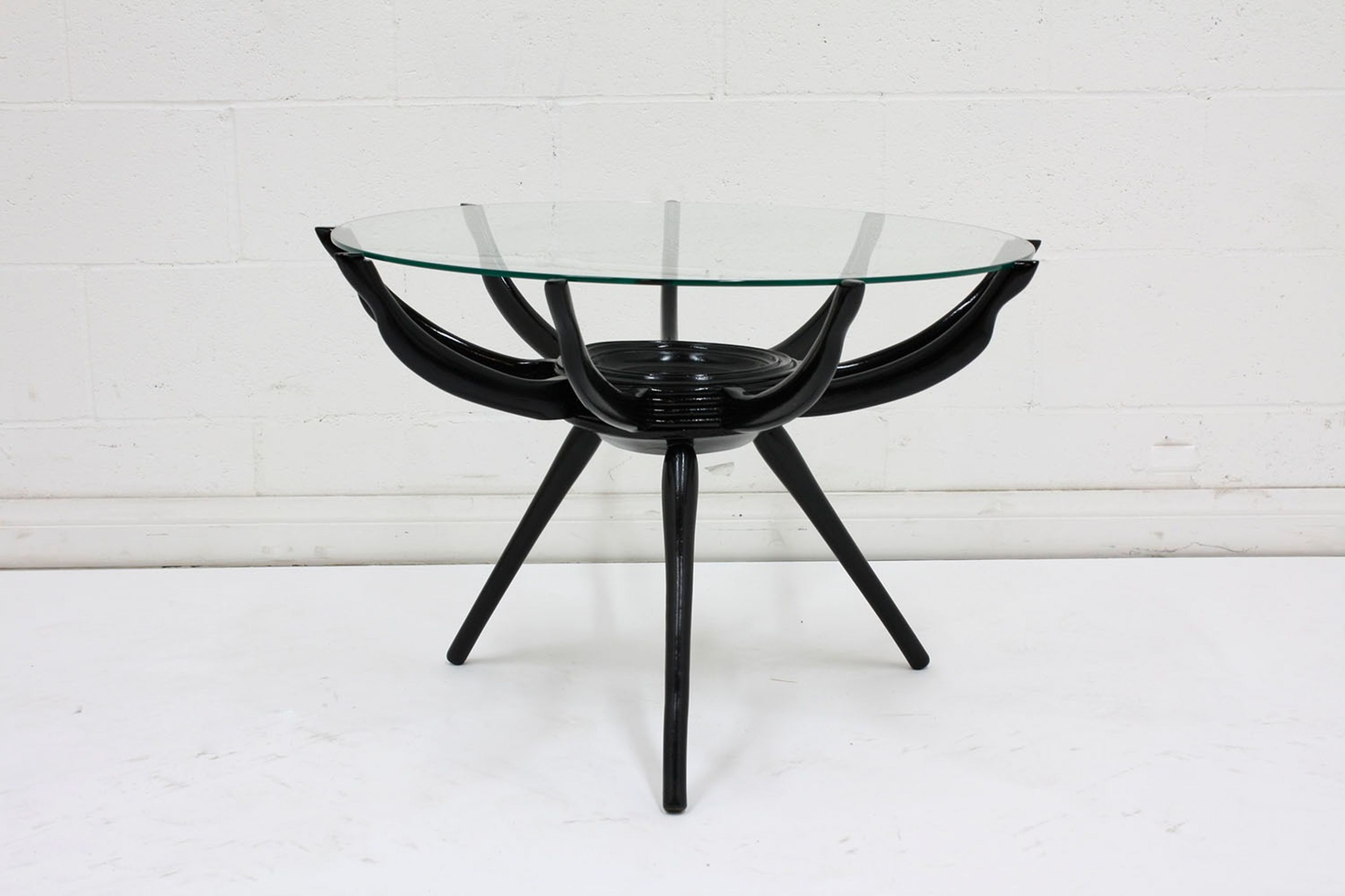 Midcentury Lacquered Spider Leg Coffee Table by Carlo di Carli