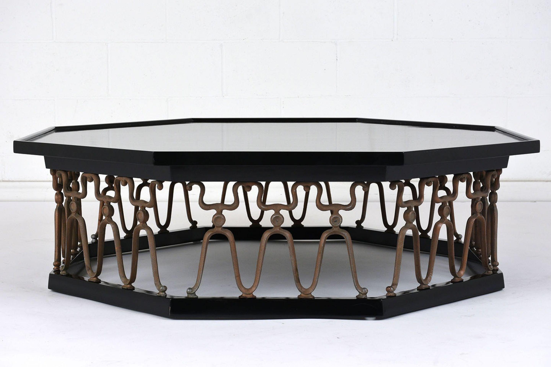 Octagonal Hollywood Regency-Style Coffee Table