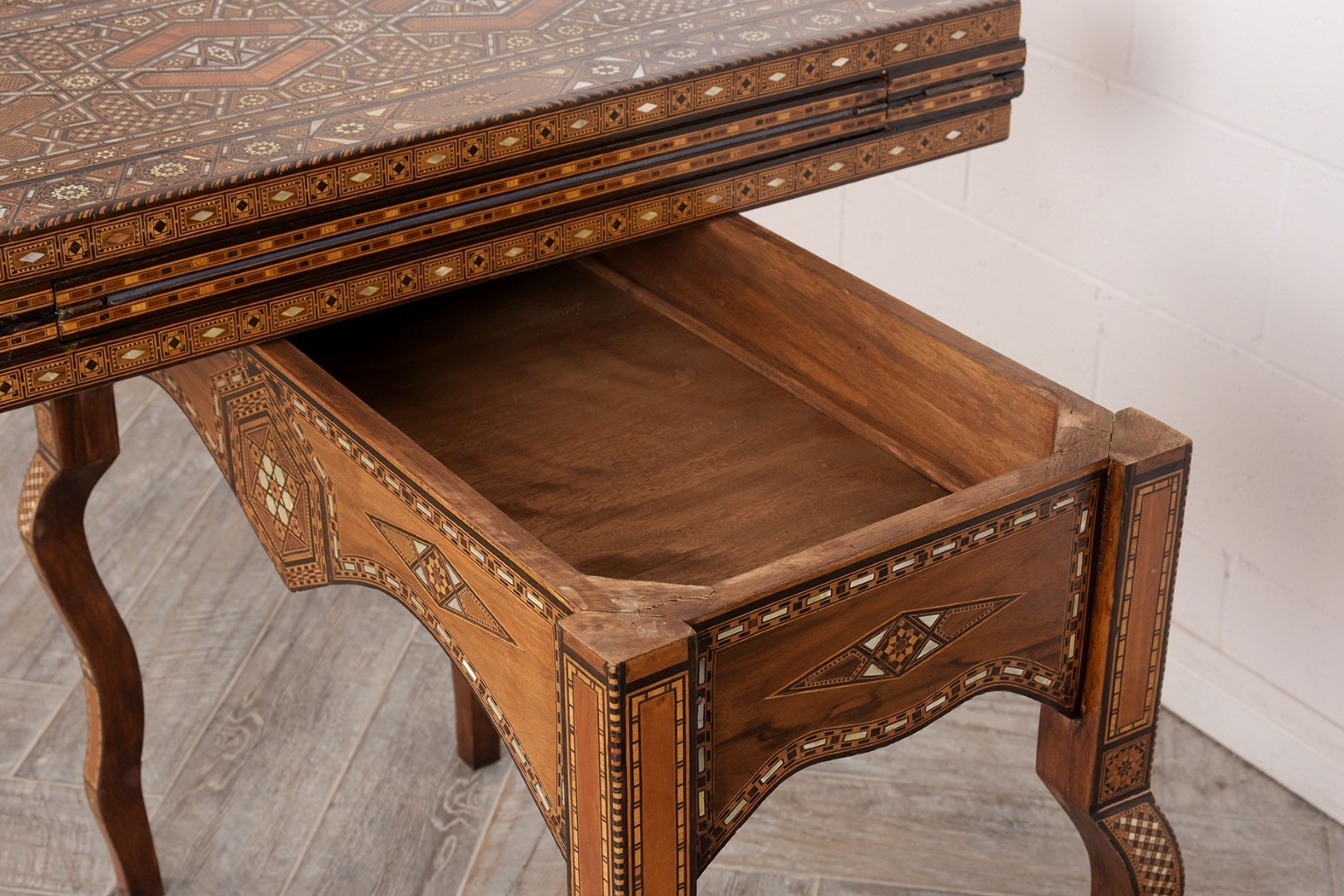 Completely Restored Late 19th Century Syrian Game Table