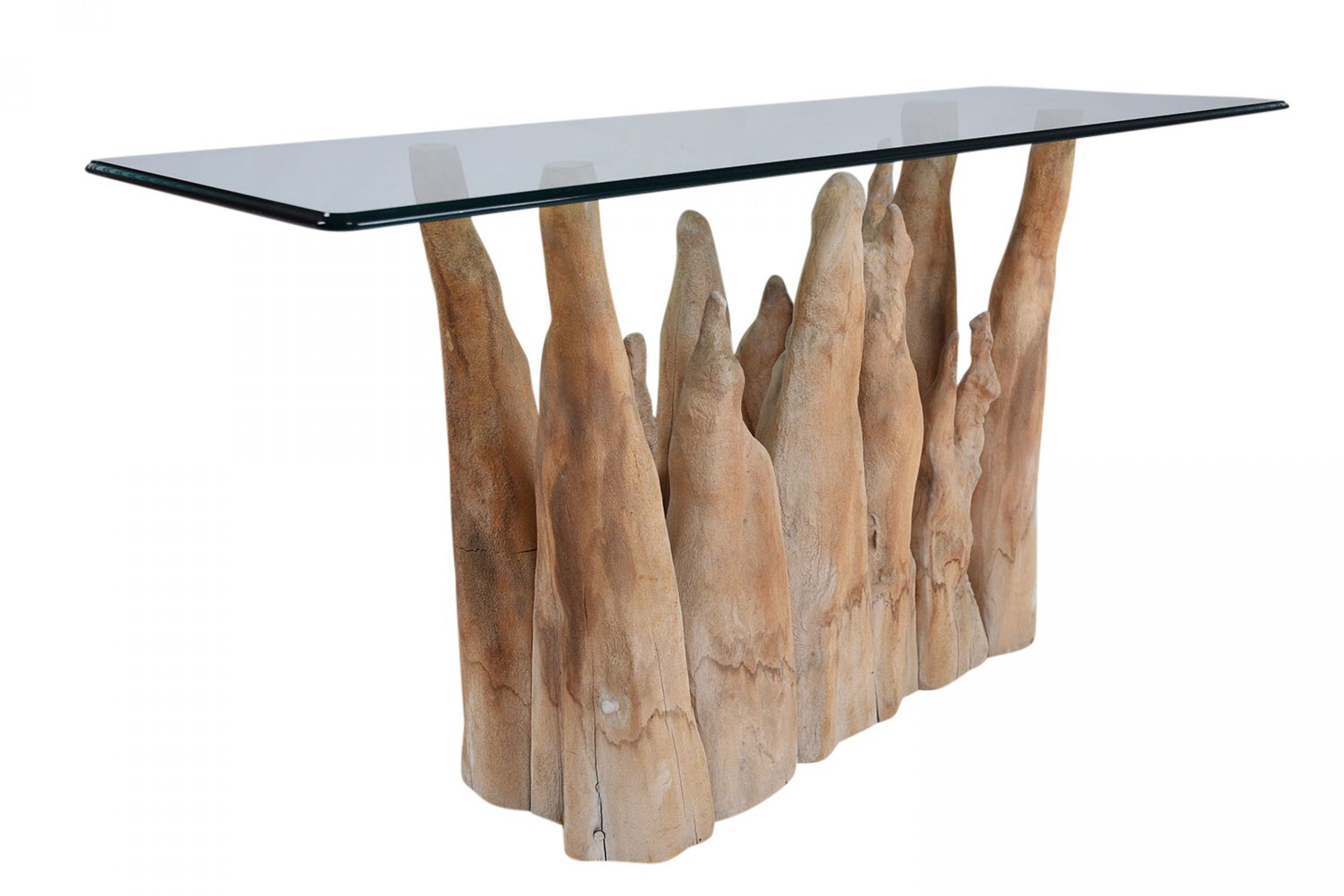 Sculptural Sofa Table by Michael Taylor