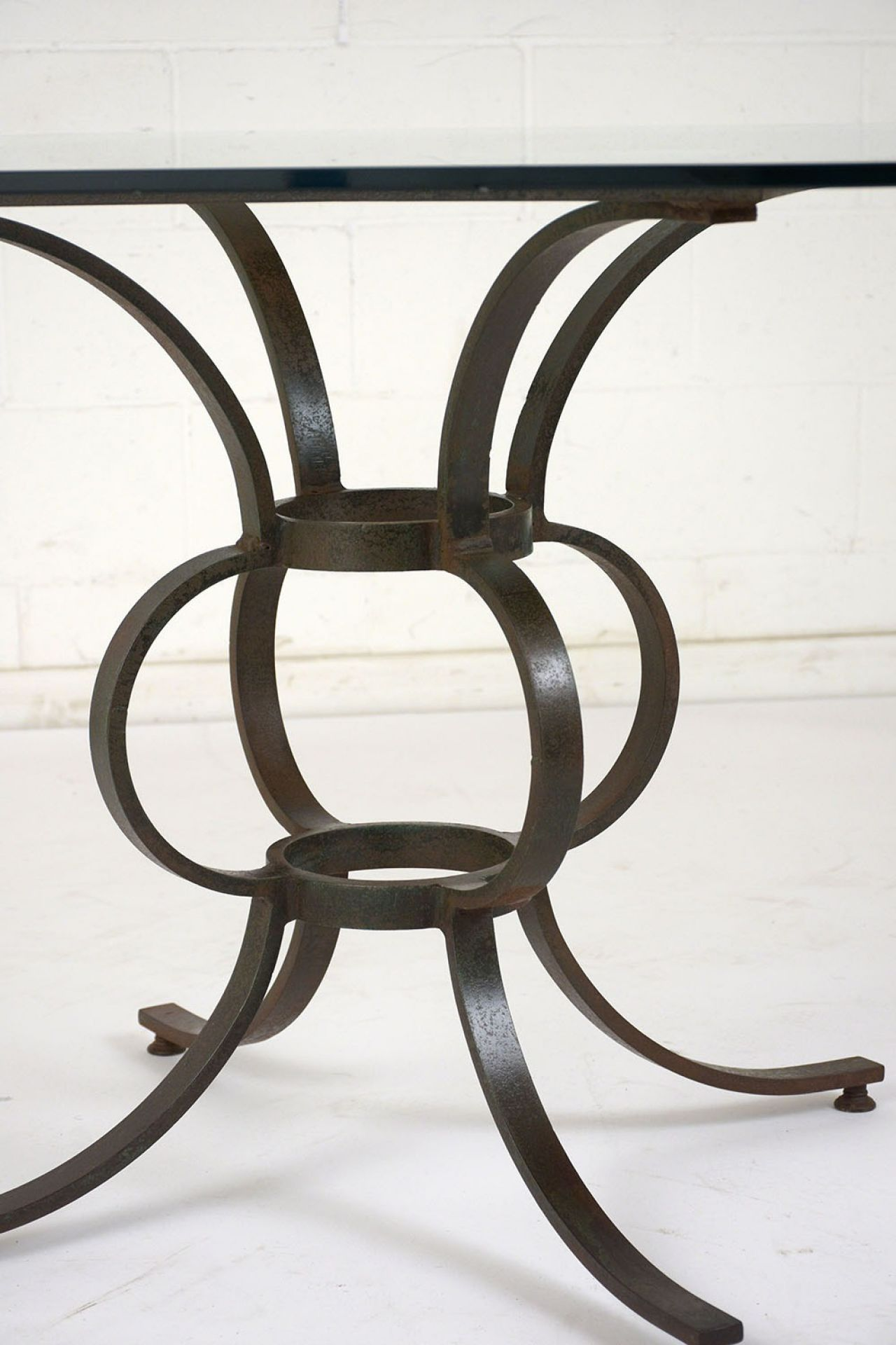 Antique Wrought Iron Patio Table