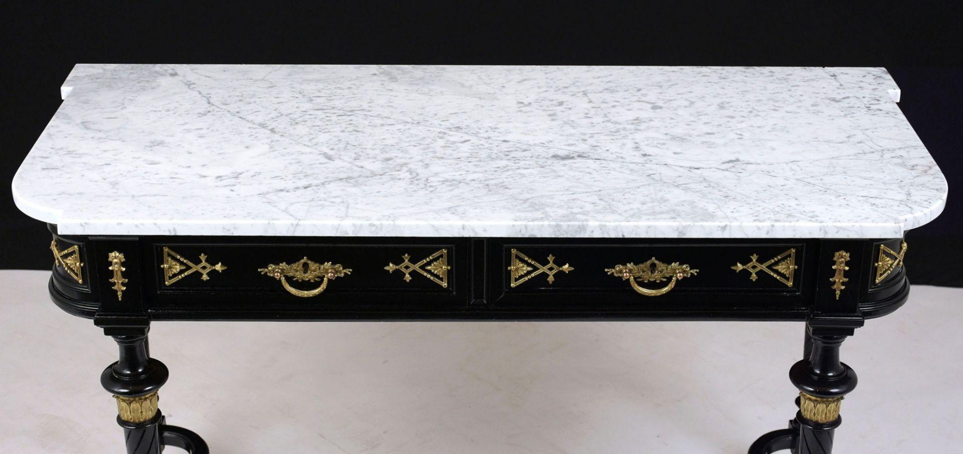 Late 19th Century Louis XVI Ebonized Console Table