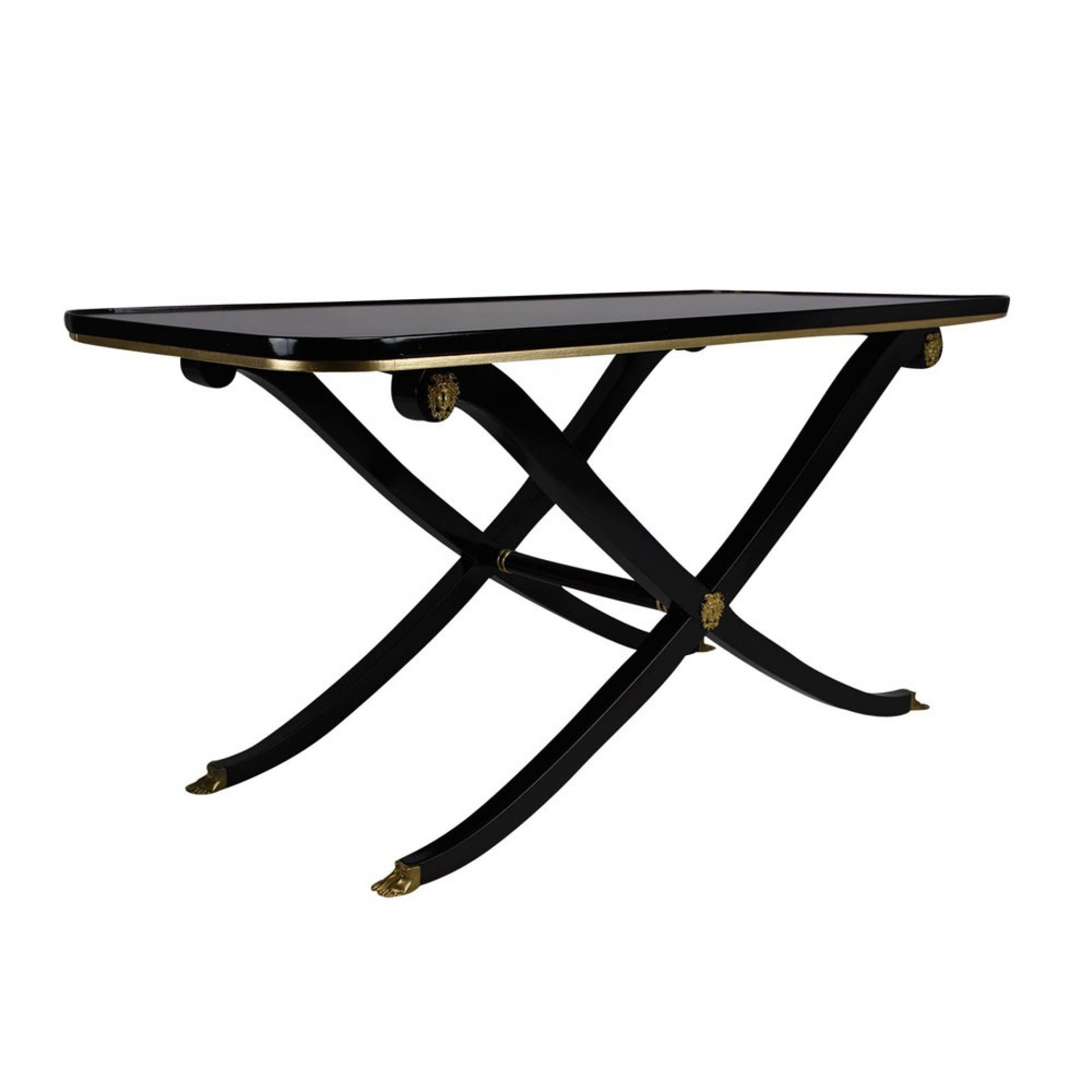 French Empire Style Ebonized Coffee Table