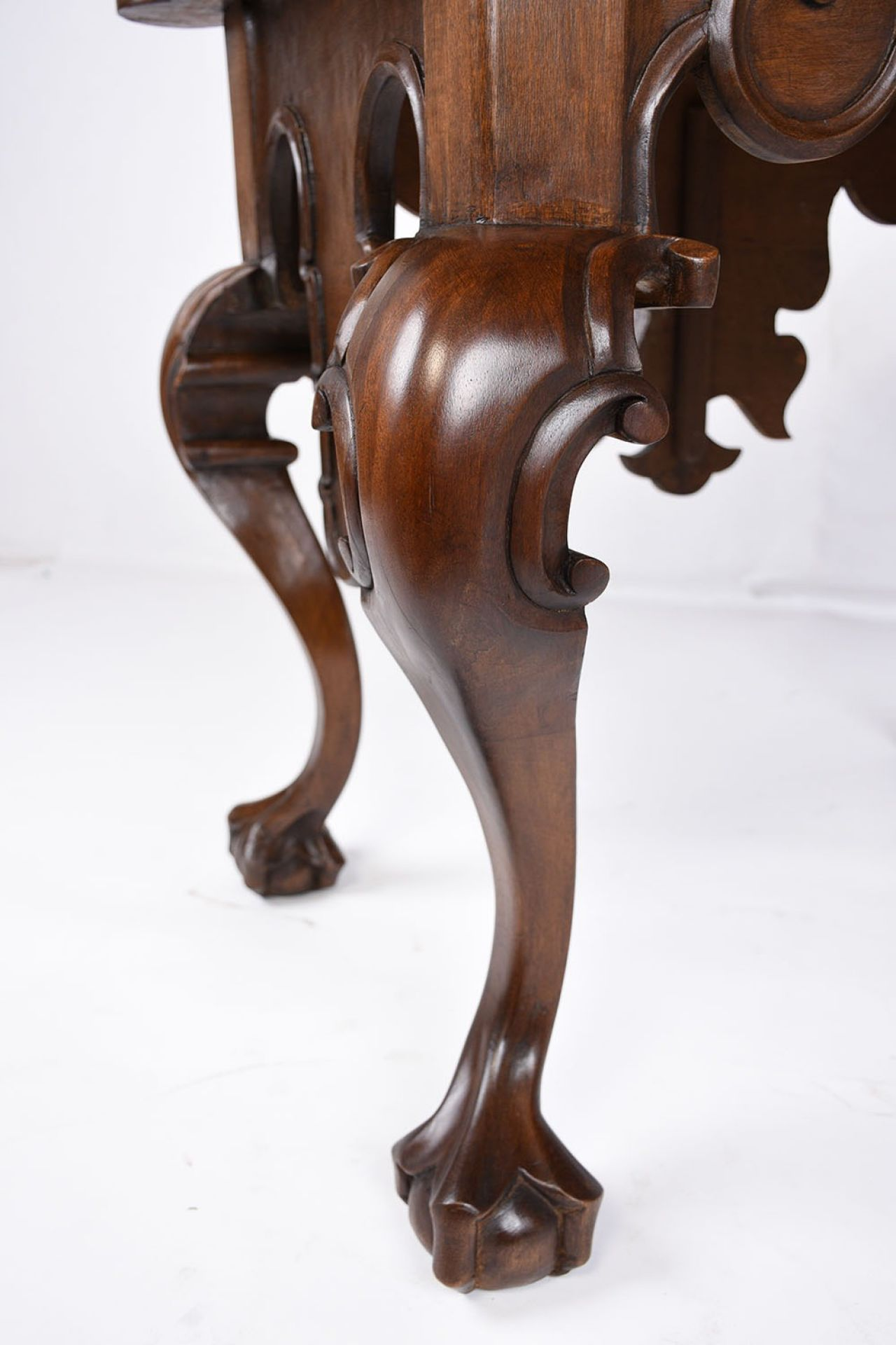 Antique Carved Walnut Center Table