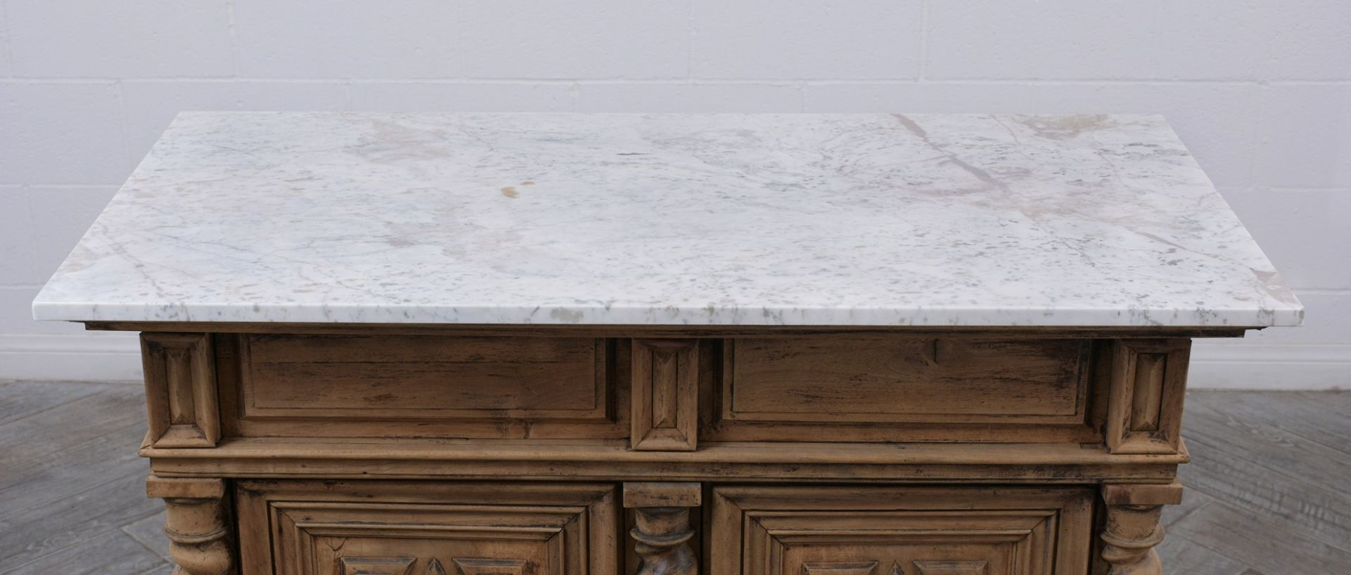 1830's French Renaissance-style Bleached Buffet
