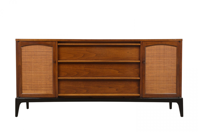 Modern 1960's Walnut Credenza