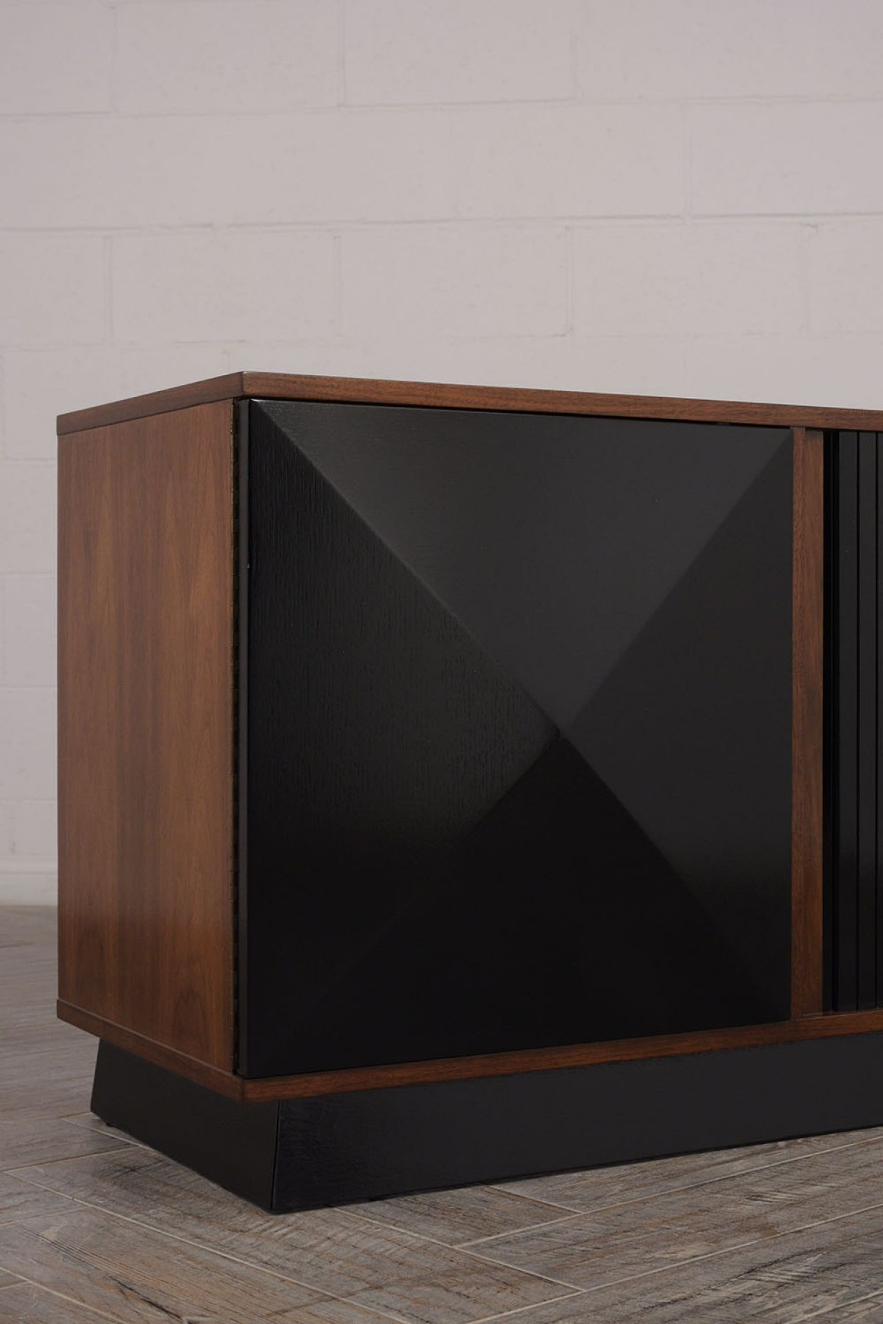 3 Section Mid Century Modern Credenza