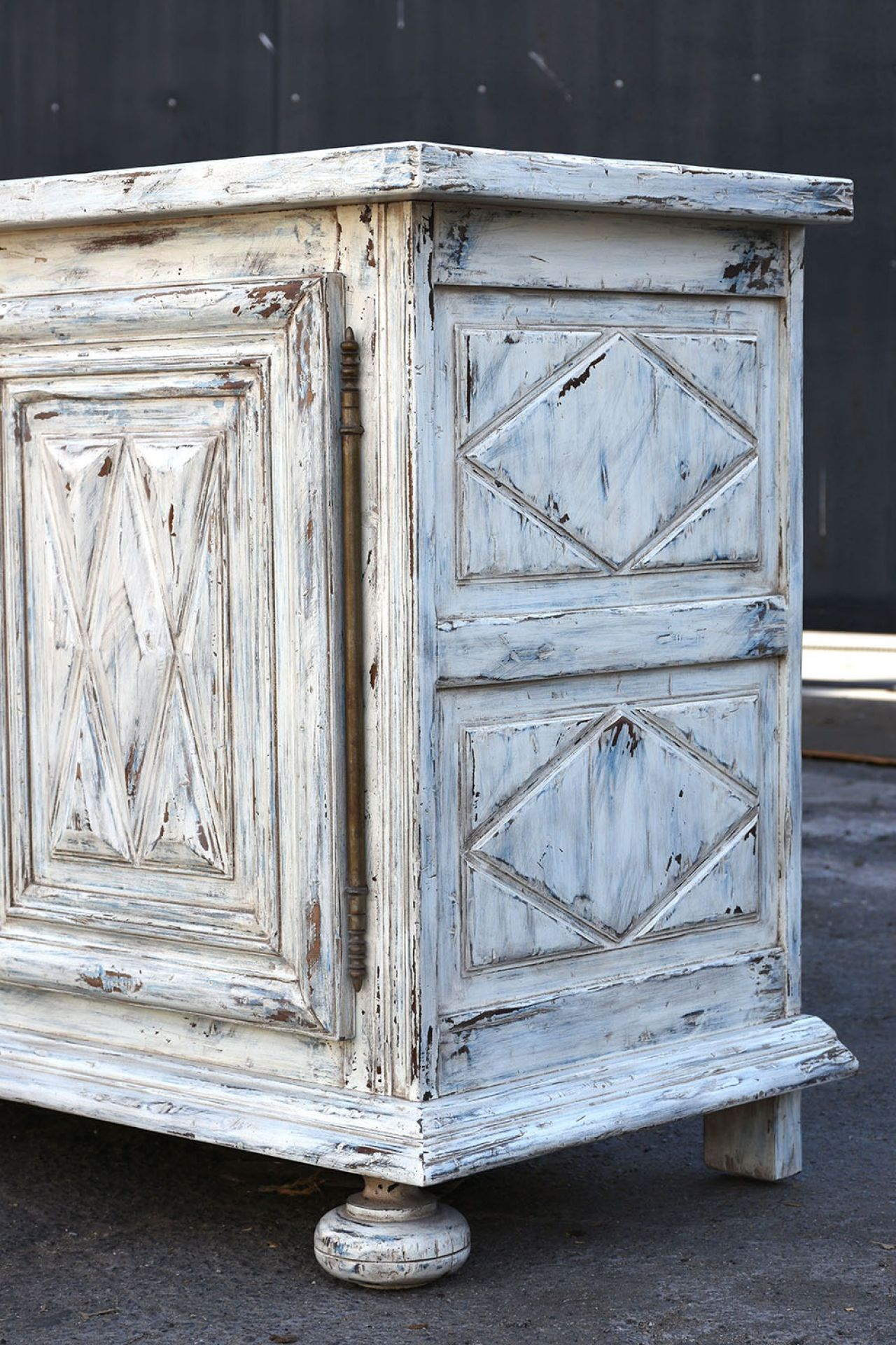 Antique French Renaissance-style Painted Buffet