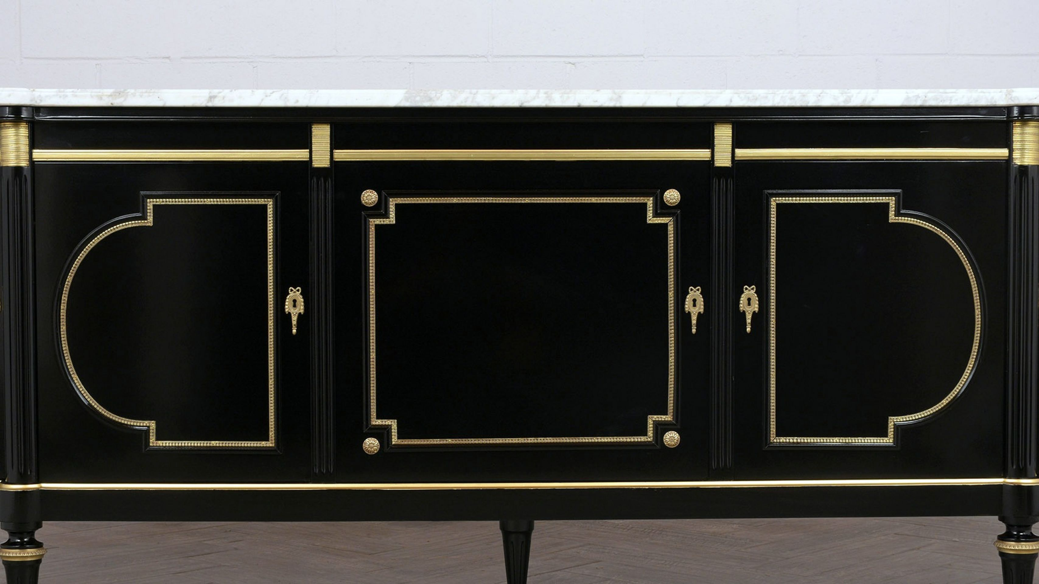 Grand French Louis XVI-Style Buffet w/Marble Top