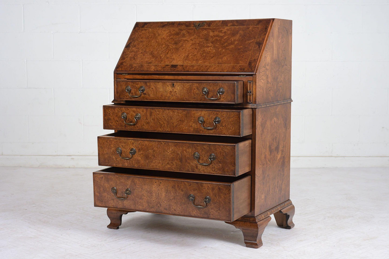 Vintage English Traditional-style Slant Front Desk