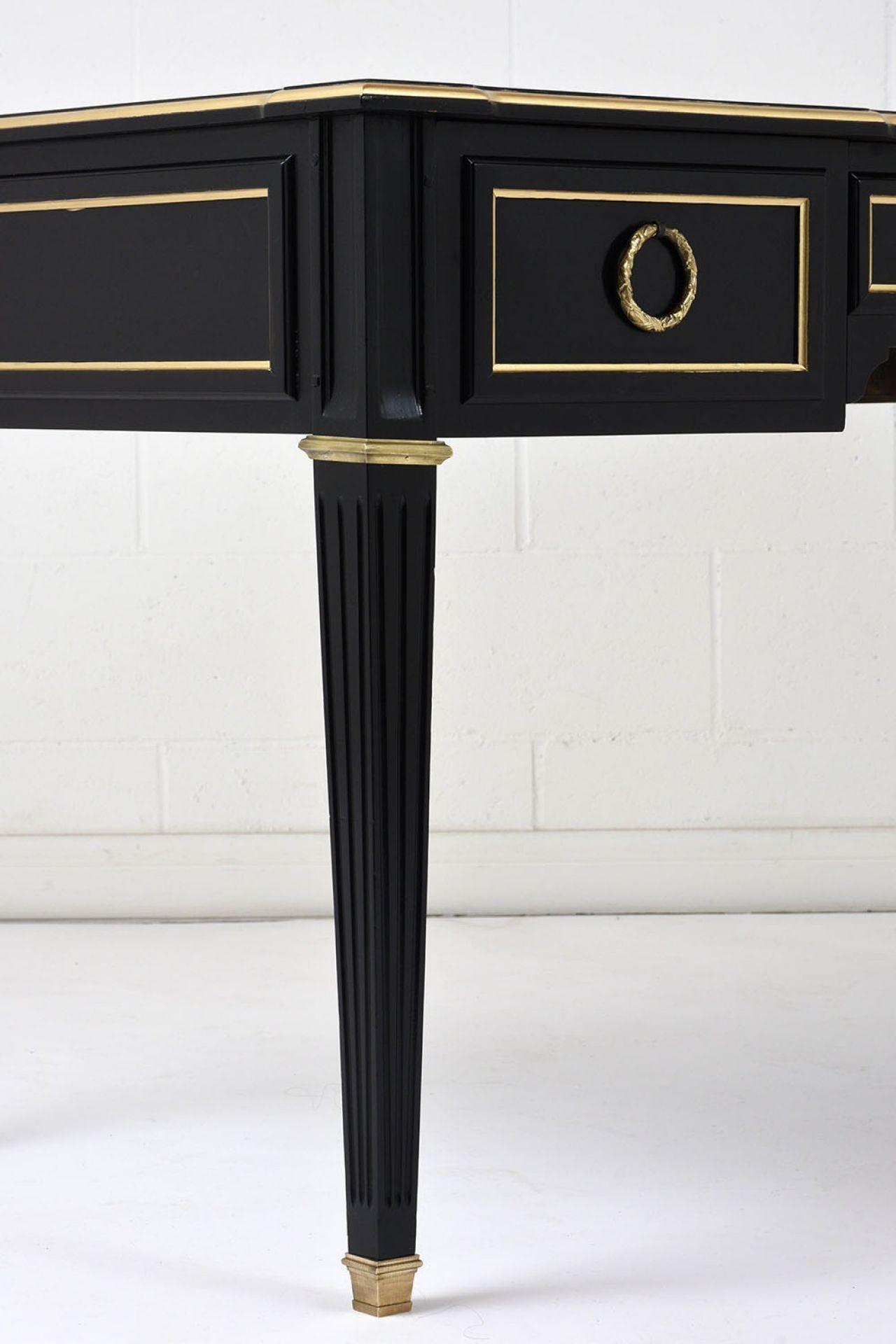 Antique French Louis XVI-Style Ebonized Desk