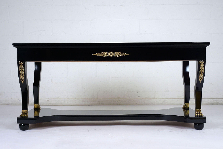 French Empire-style Ebonized Desk