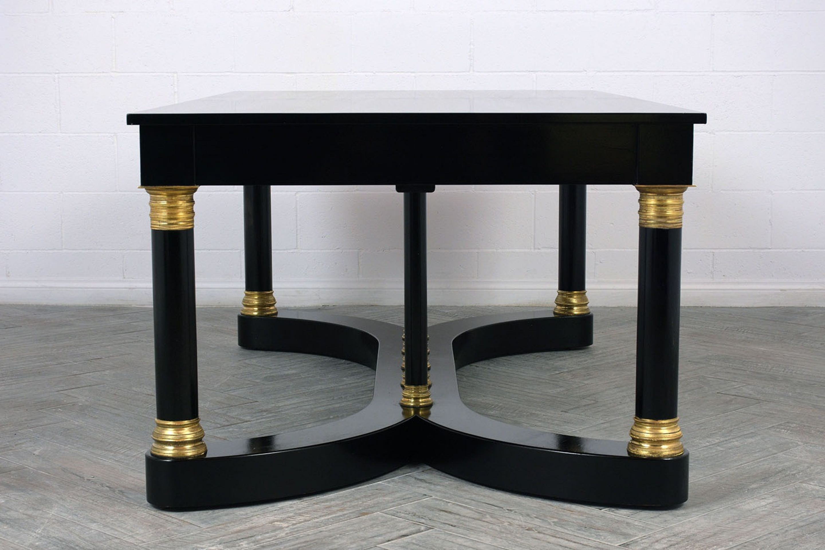 Antique French Empire-style Ebonized Partner Desk