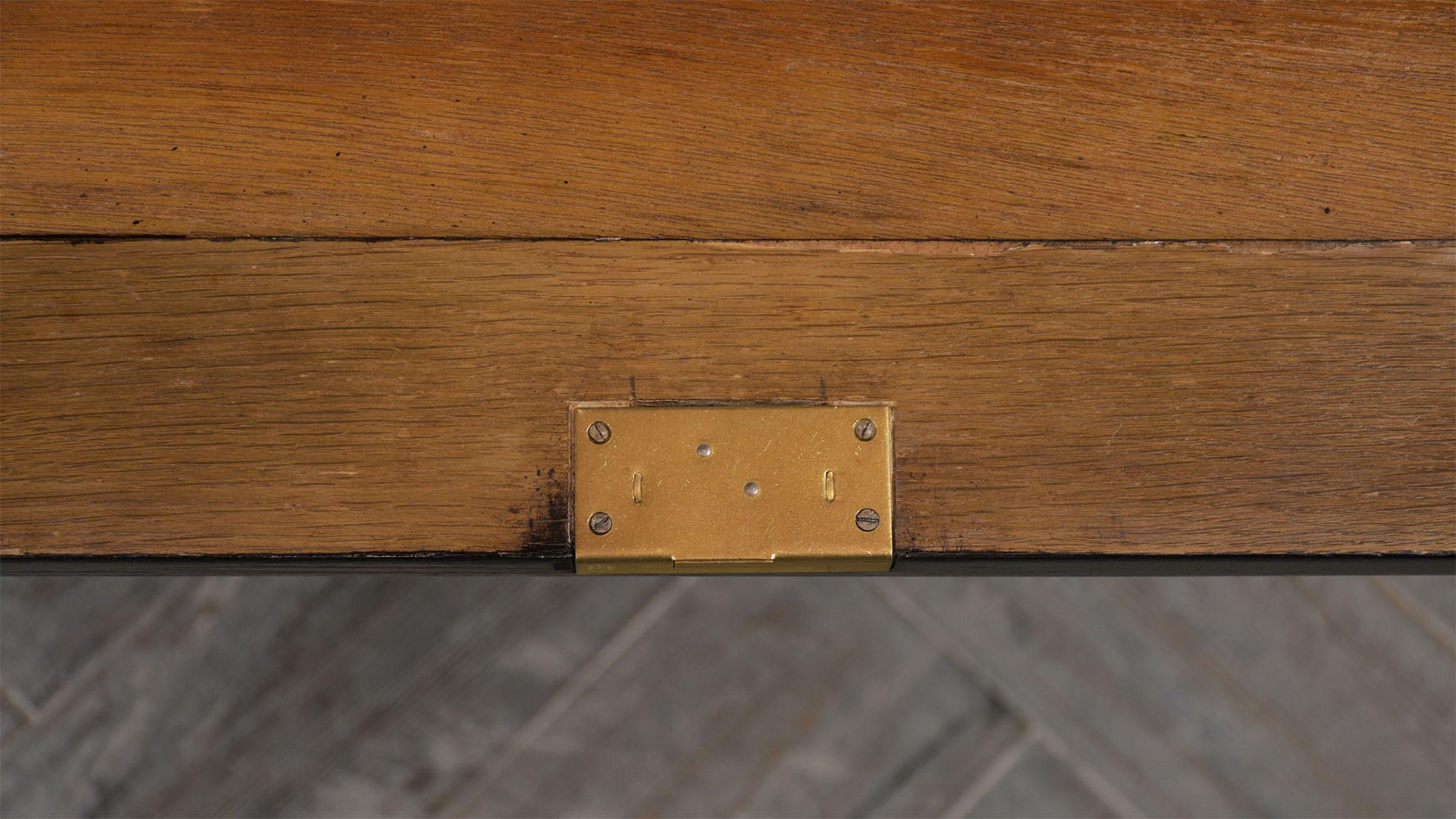 20th C. Custom Leather Top Regency-Style Six-Drawer Partners Desk