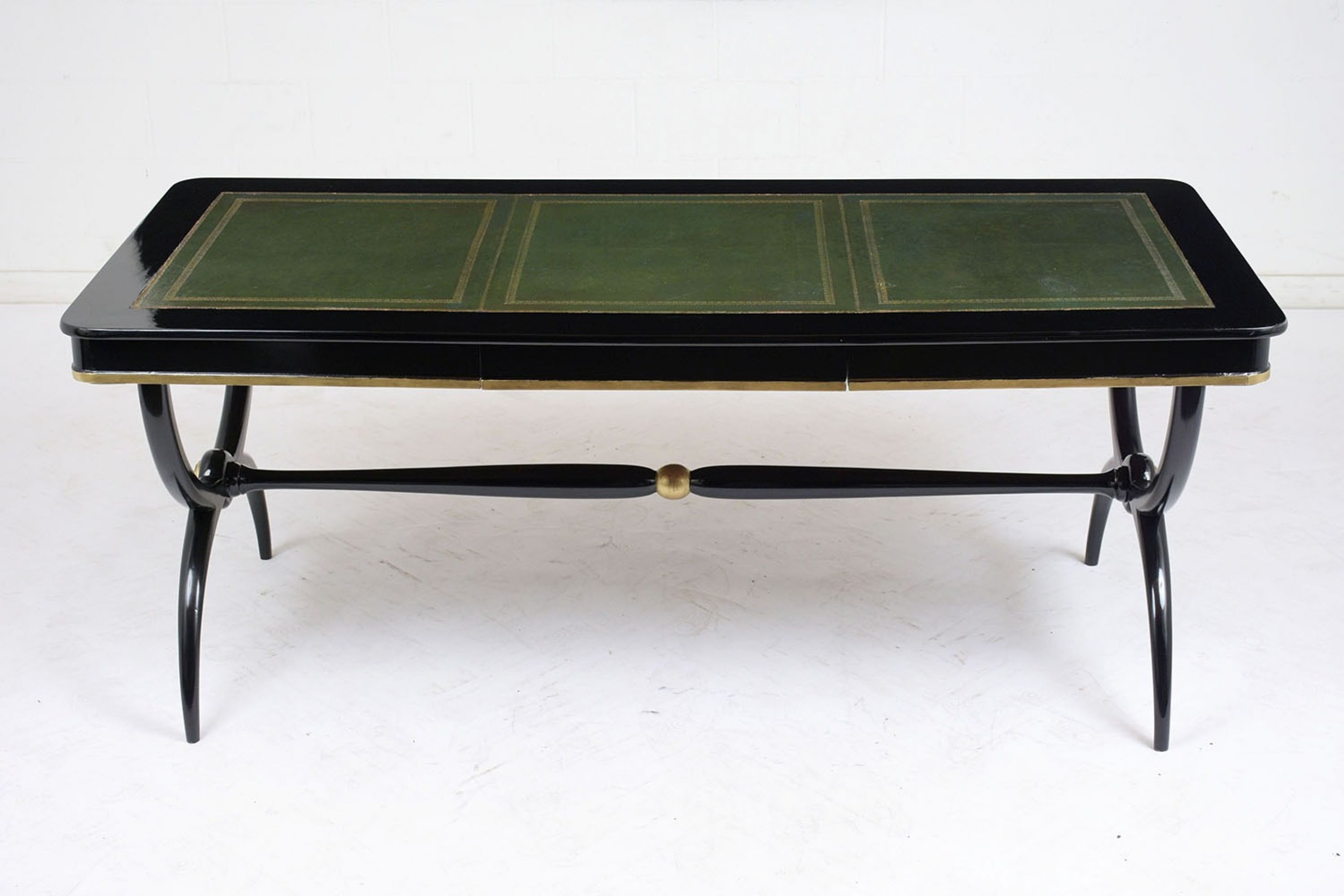 Early 20th Century English Ebonized Regency-Style Desk