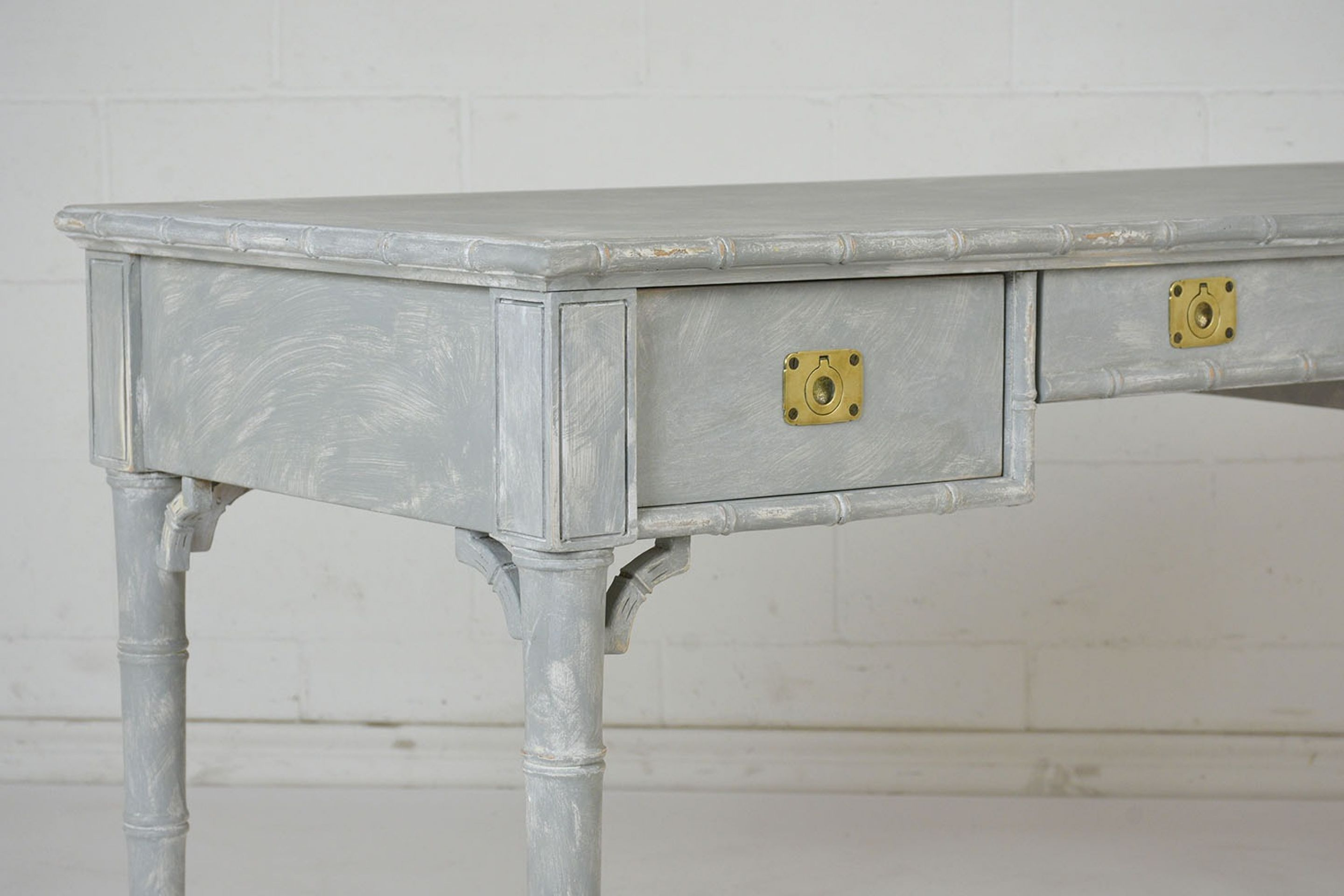 Vintage Painted Faux Bamboo Desk