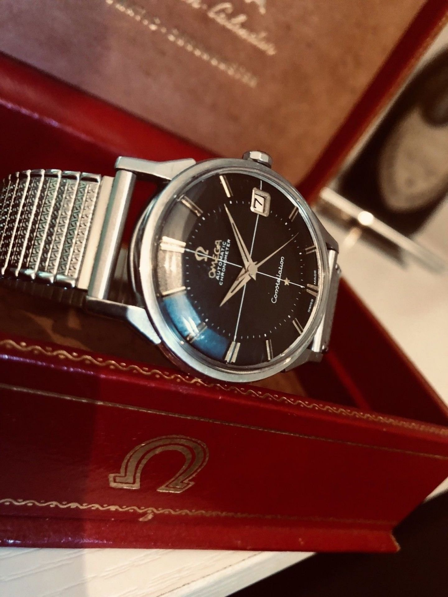 OMEGA CONSTELLATION 1962 VINTAGE STAINLESS STEEL AUTOMATIC CAL 561 BLACK DIAL