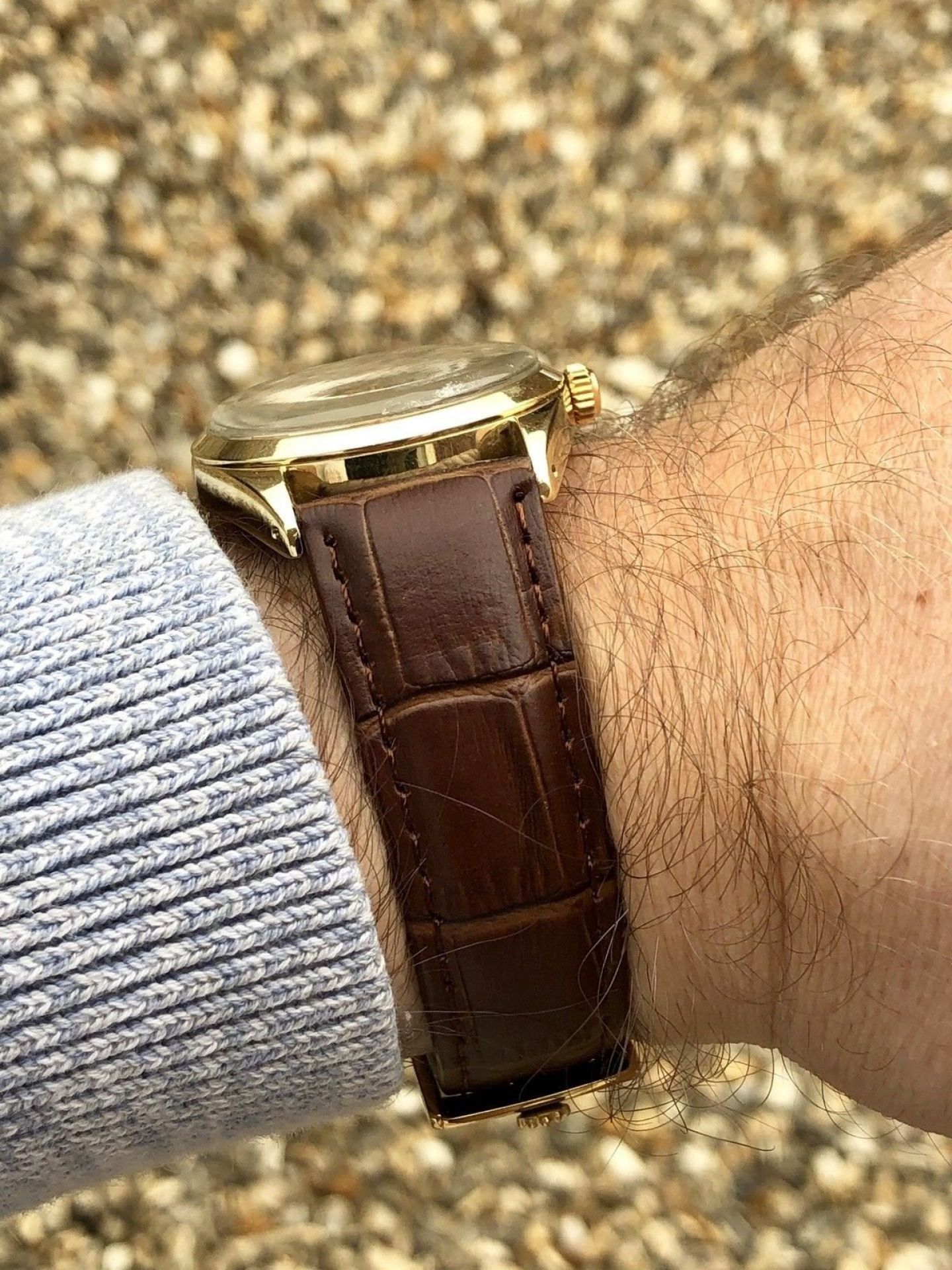 GENUINE ROLEX AIR KING 5520 OYSTER GOLD PERPETUAL AUTOMATIC VINTAGE 1978-1979