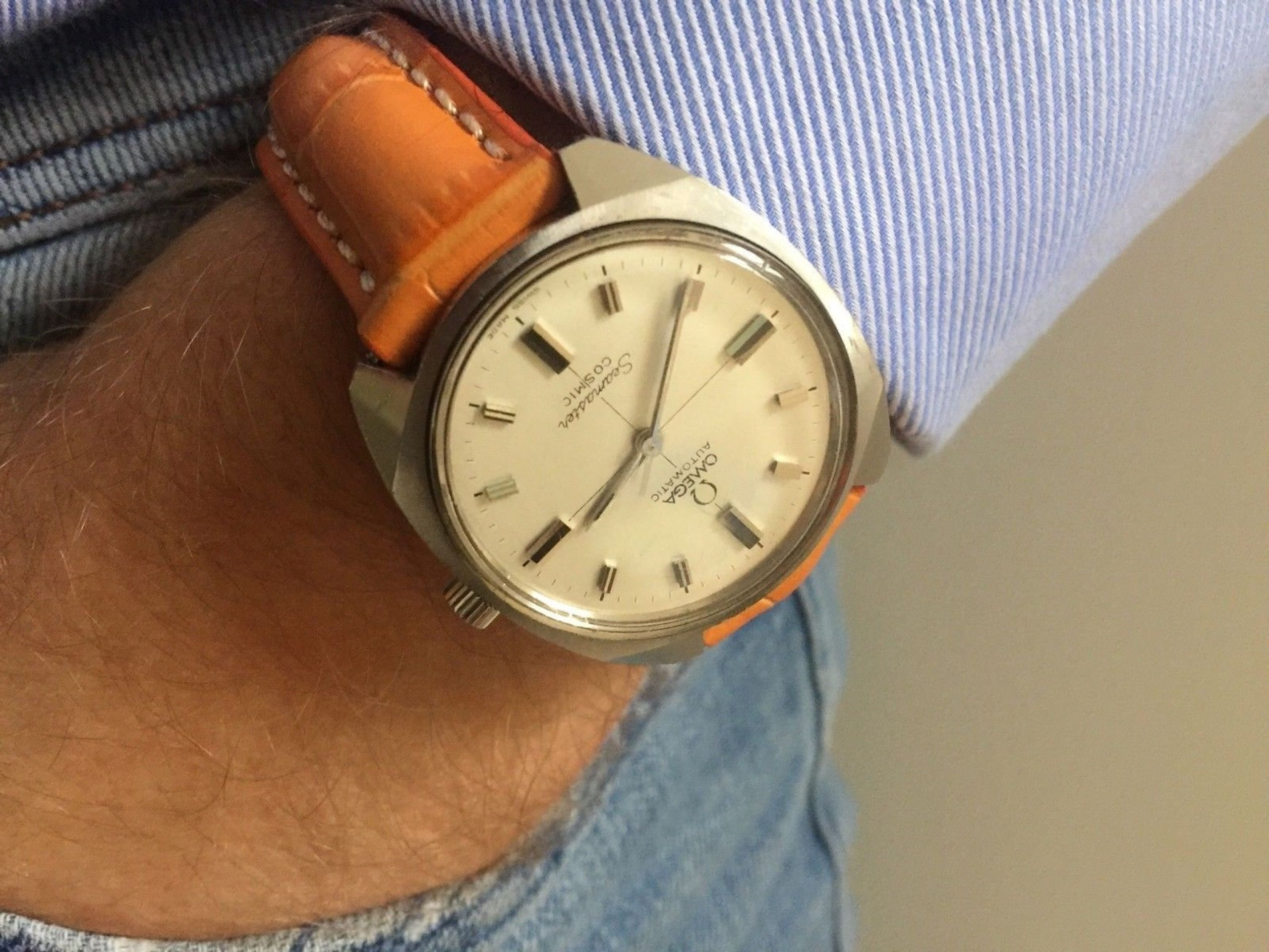 OMEGA MEN'S VINTAGE 1966 MENS AUTOMATIC SEAMASTER COSMIC STEEL GENTS