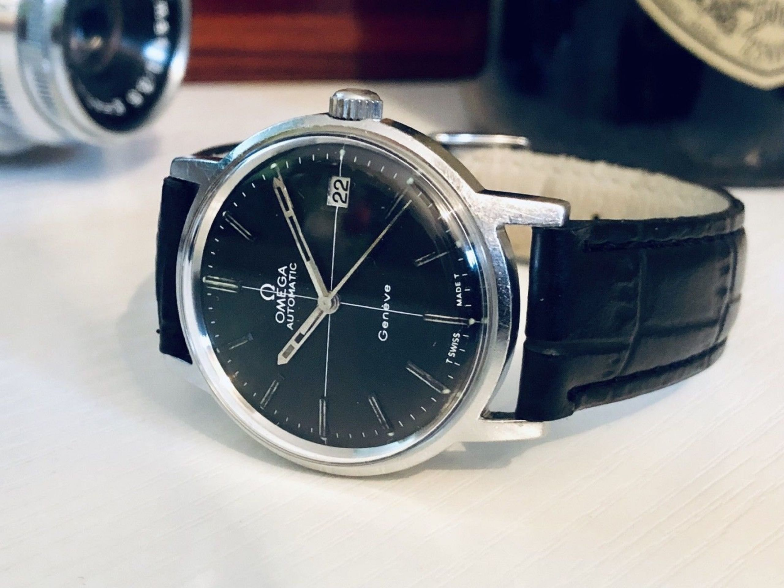 OMEGA SEAMASTER VINTAGE WATCH CAL 285 MECHANICAL STAINLESS STEEL WITH DATE