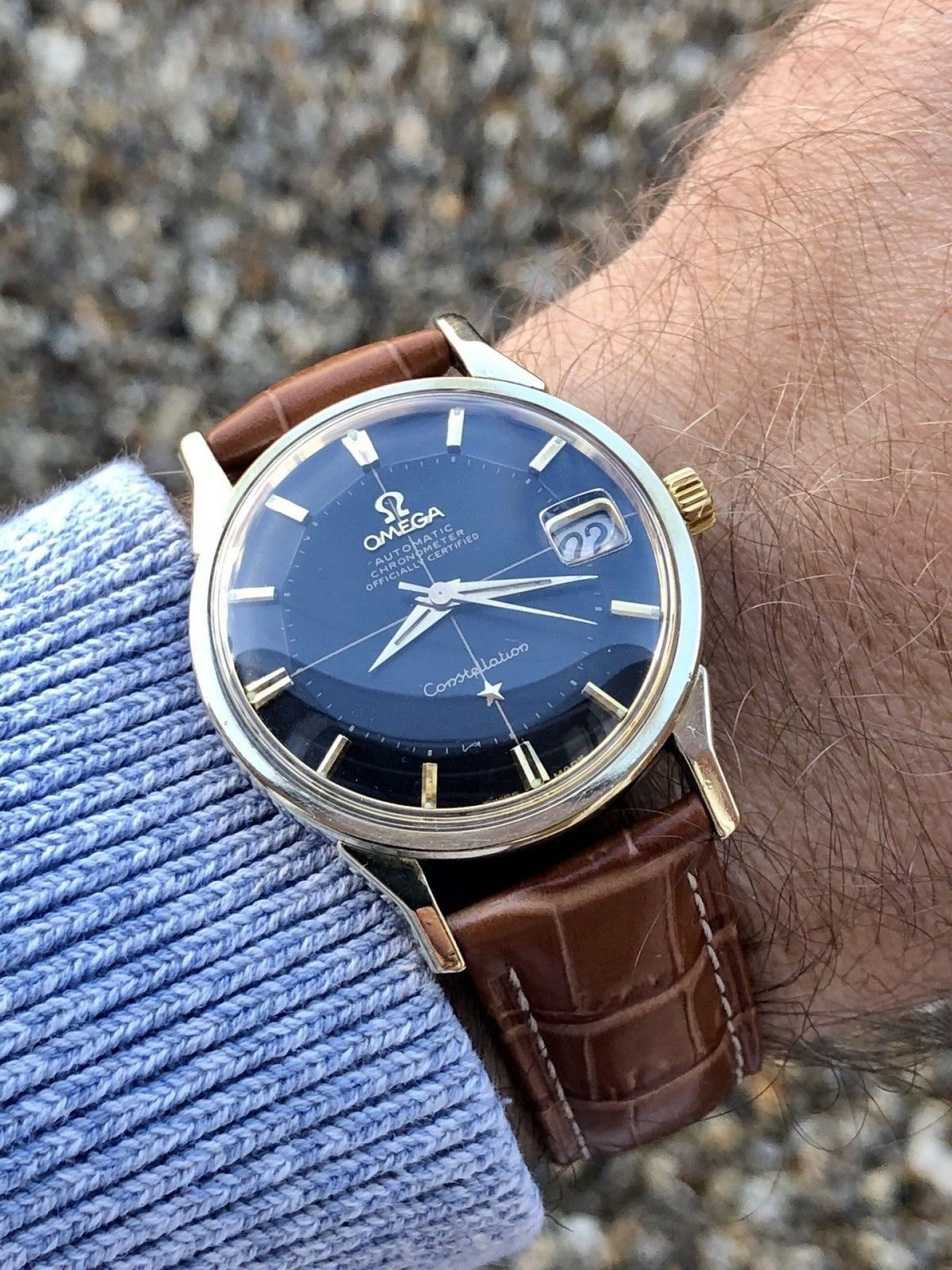 OMEGA CONSTELLATION 1960S VINTAGE 14K GOLD CAPPED AUTOMATIC