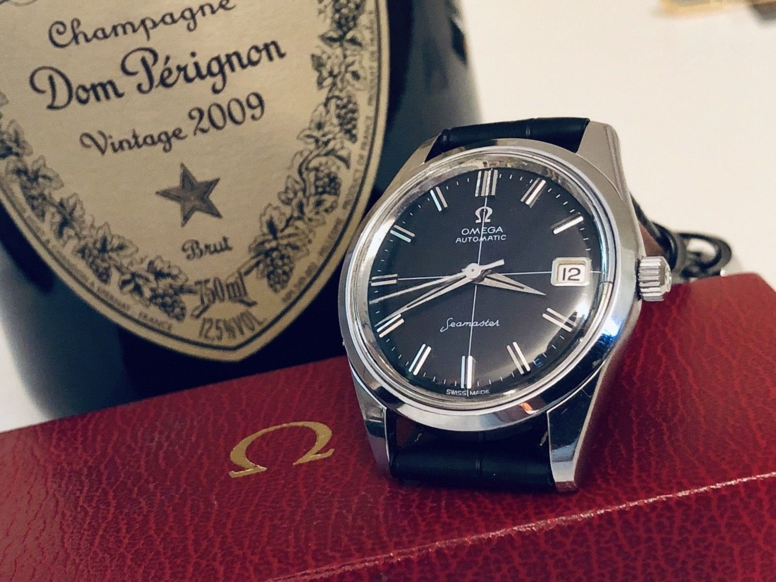 OMEGA SEAMASTER VINTAGE WATCH CAL 285 MECHANICAL STAINLESS STEEL