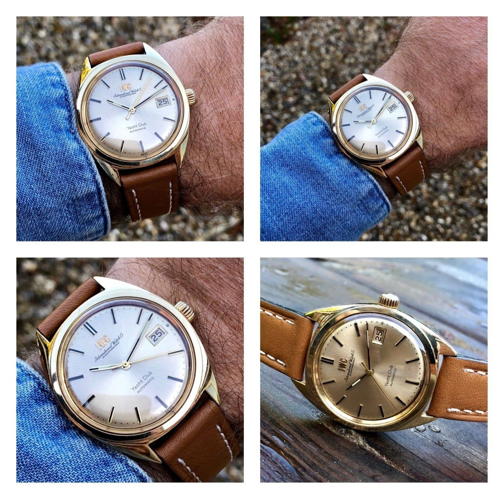 IWC SOLID 18K / 750 GOLD MENS AUTOMATIC SCHAFFHAUSEN WATCH CAL 8541 VINTAGE