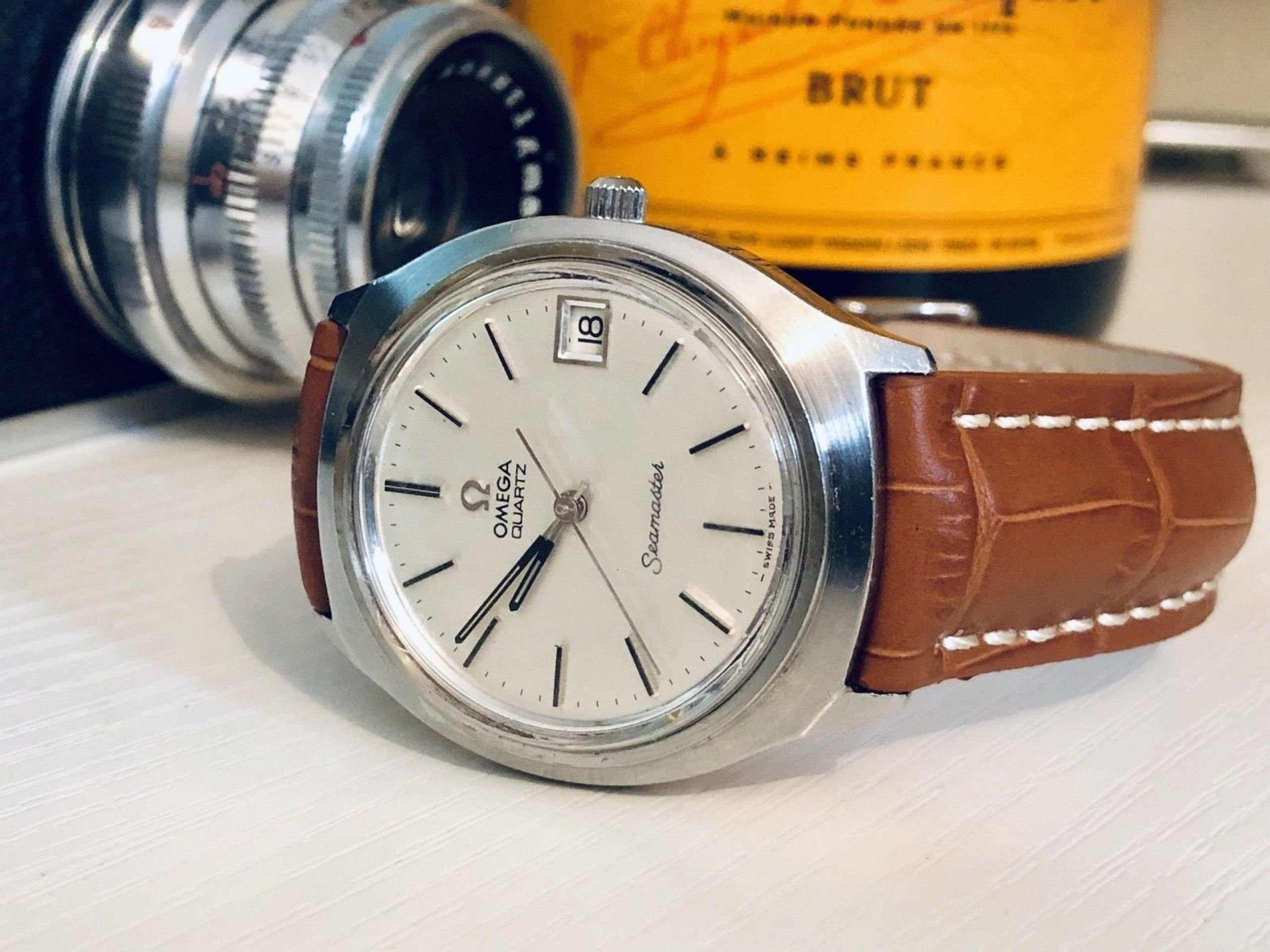 OMEGA MENS GENTS CLASSIC JUMBO SIZE 37MM SEAMASTER VINTAGE 1977