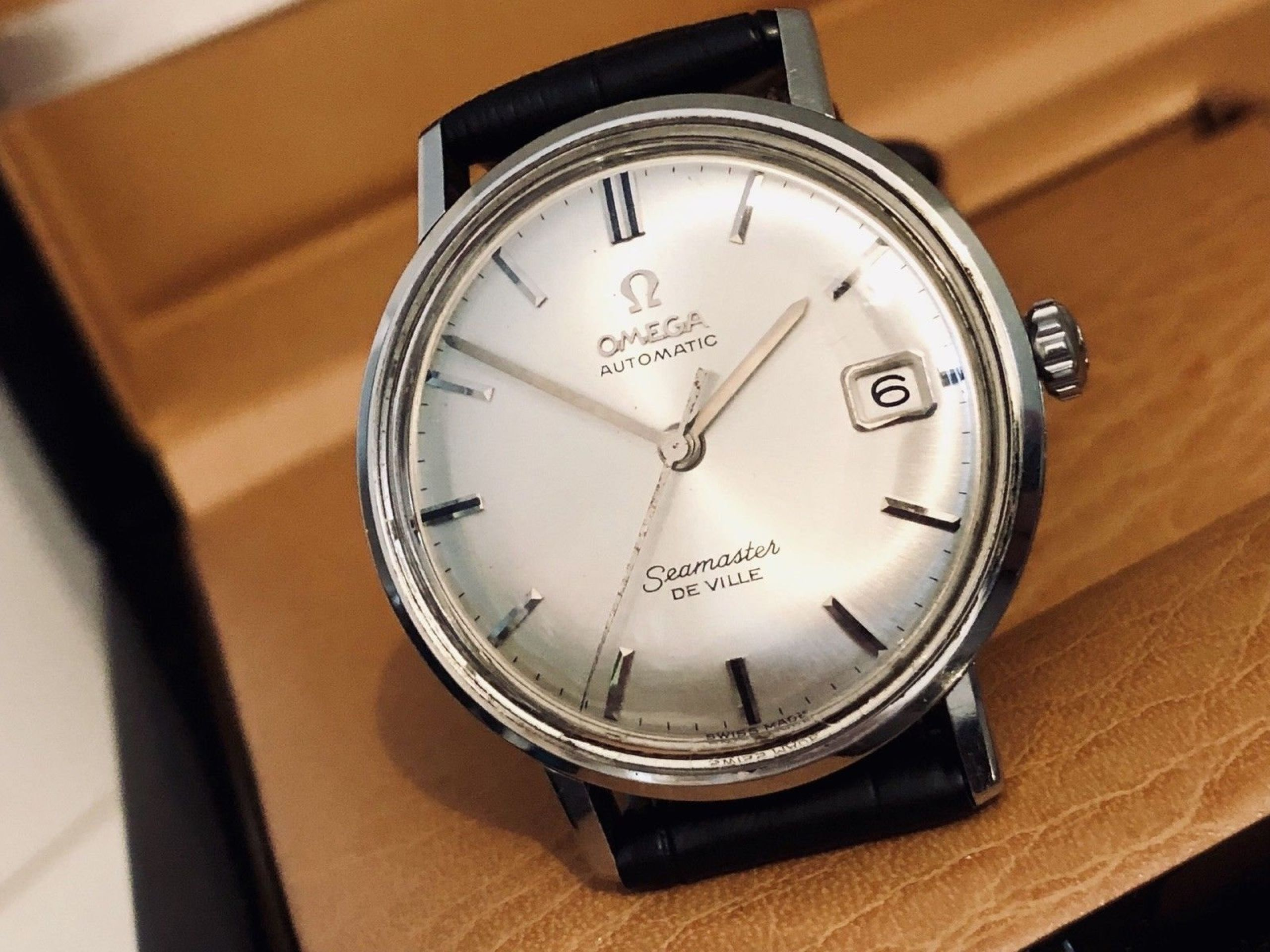 OMEGA SEAMASTER DE VILLE VINTAGE WATCH CAL 565 MECHANICAL AUTOMATIC STAINLESS