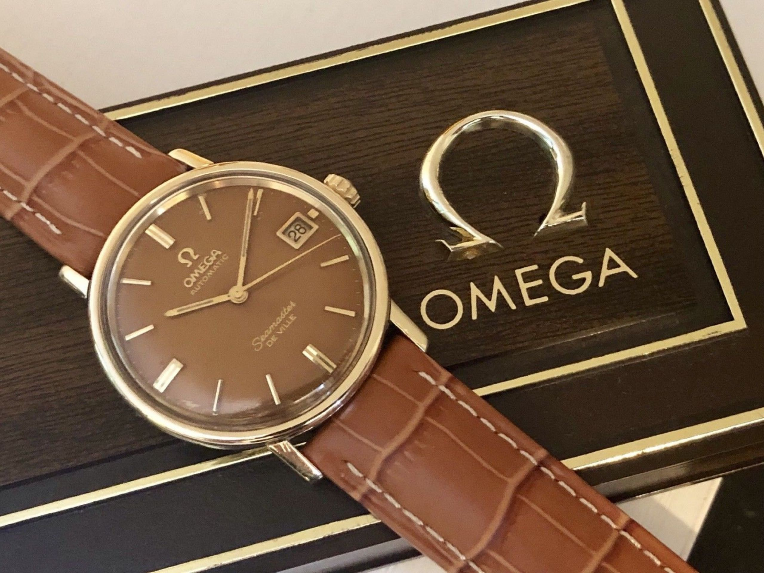 OMEGA SEAMASTER DE VILLE VINTAGE WATCH CAL 565 MECHANICAL AUTOMATIC 14K GOLD