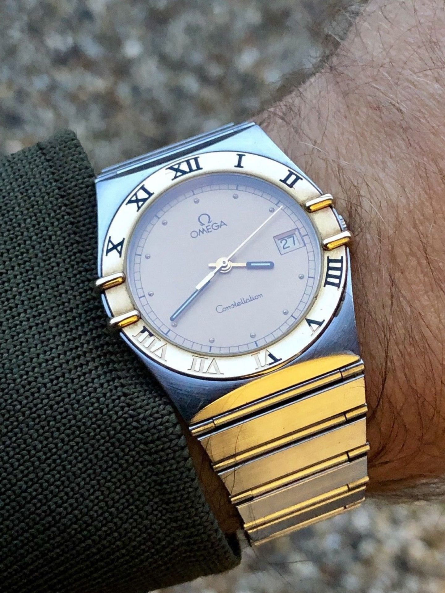 OMEGA MENS CONSTELLATION GENTS CLASSIC VINTAGE 1980-1989 QUARTZ BATTERY