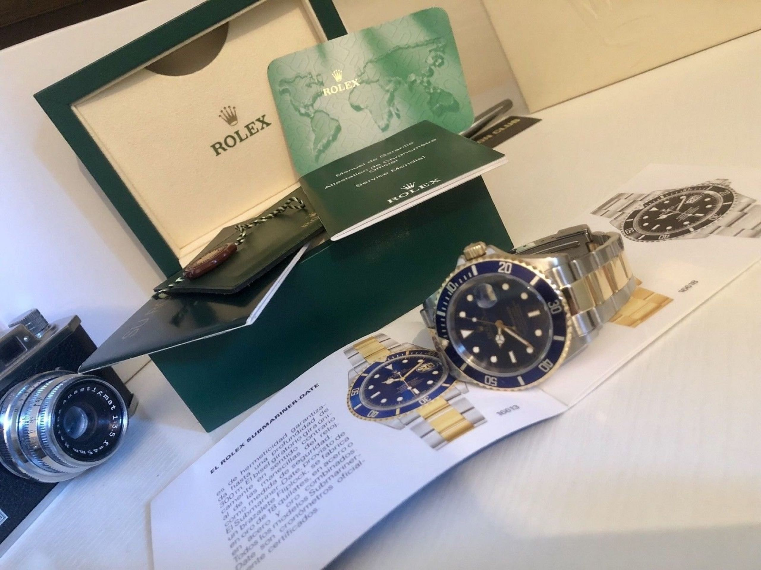 ROLEX SUBMARINER 16613 BLUE DIAL BI METAL 2004/05 CASE 2160 CALIBRE MOVEMENT