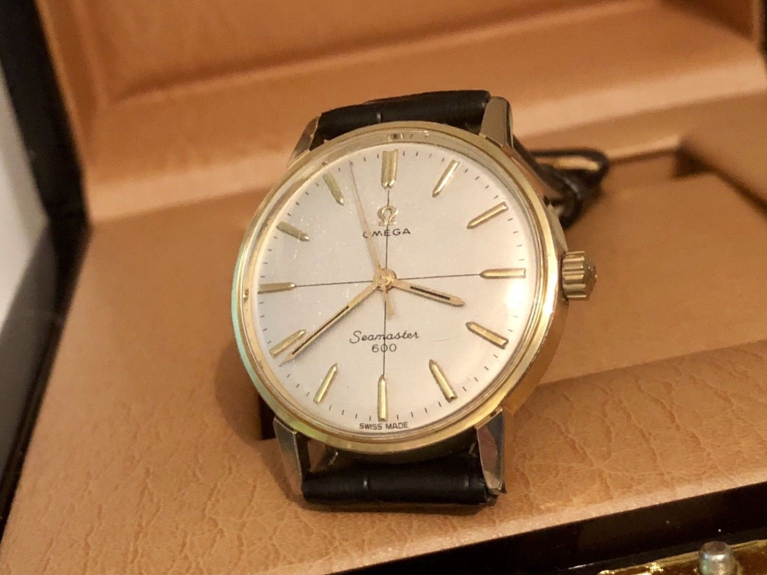OMEGA MEN'S SEAMASTER 600 CROSSHAIR 1960S MECHANICAL MOVEMENT GOLD PLATED