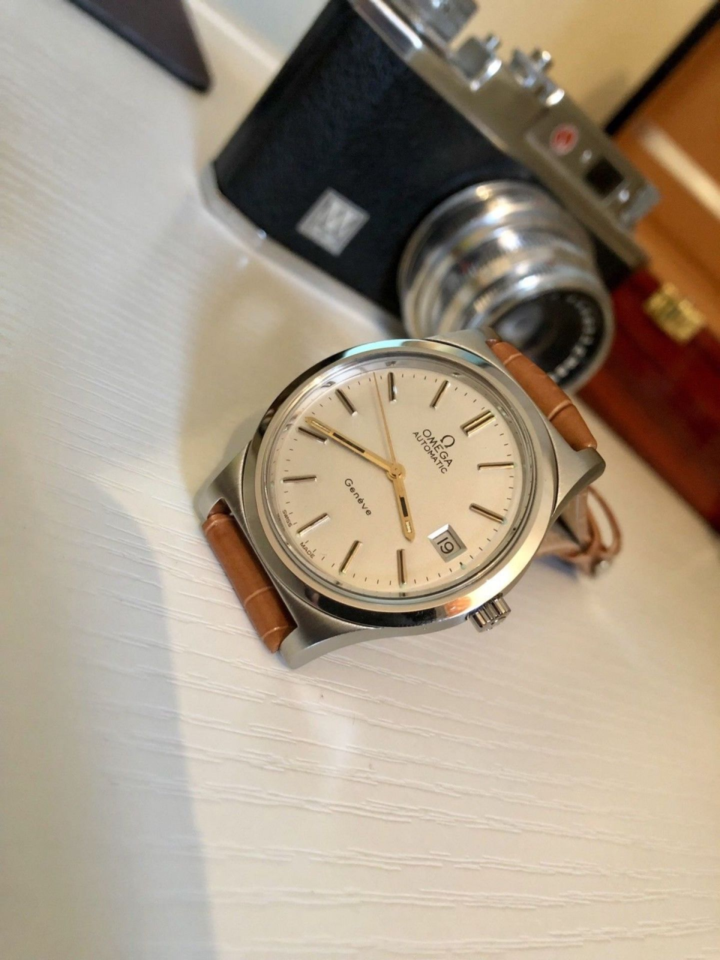 OMEGA MENS GENEVE VINTAGE WATCH CAL 1012 AUTOMATIC MECHANICAL GENTS WRISTWATCH