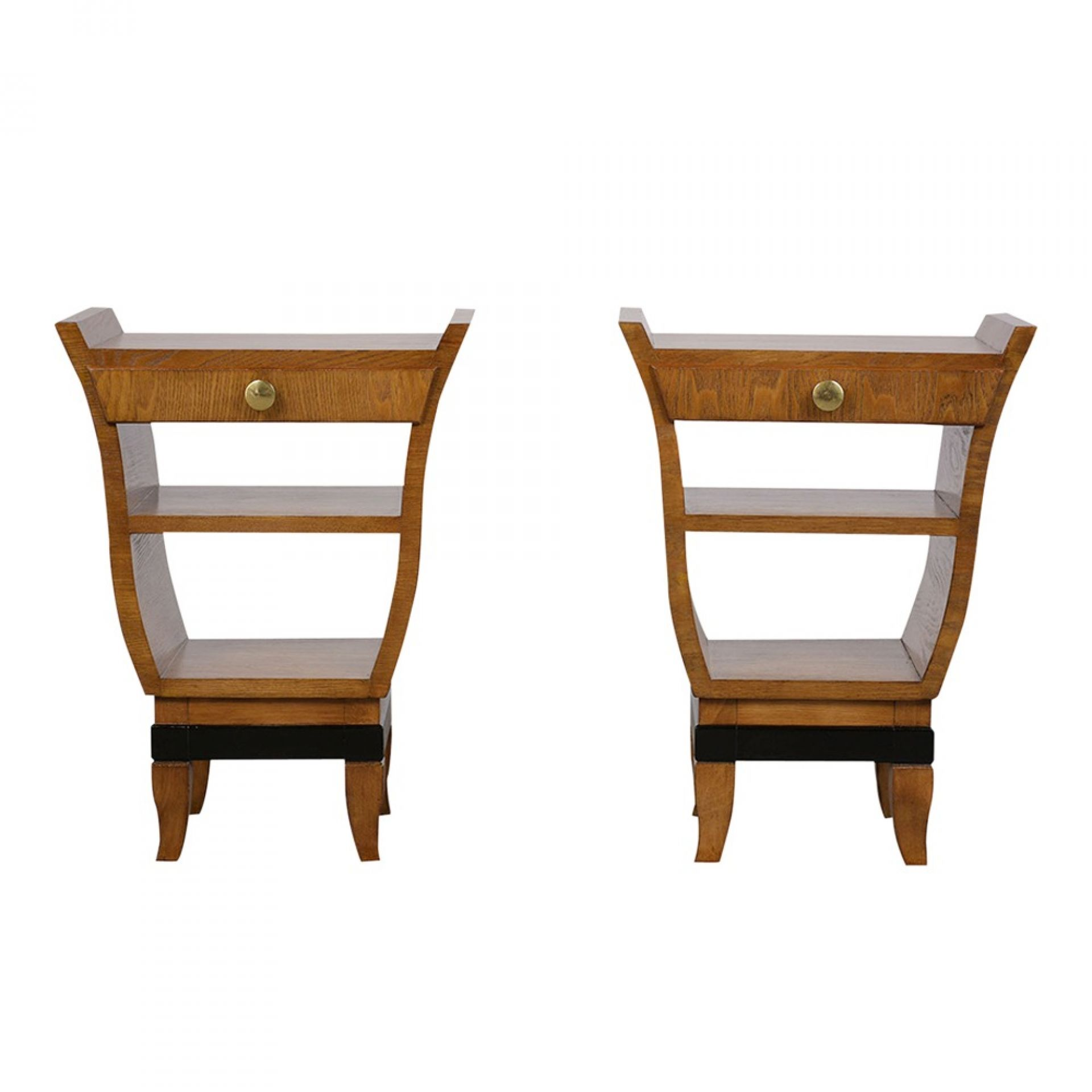 Pair of Italian Gio Ponte Design Nightstands