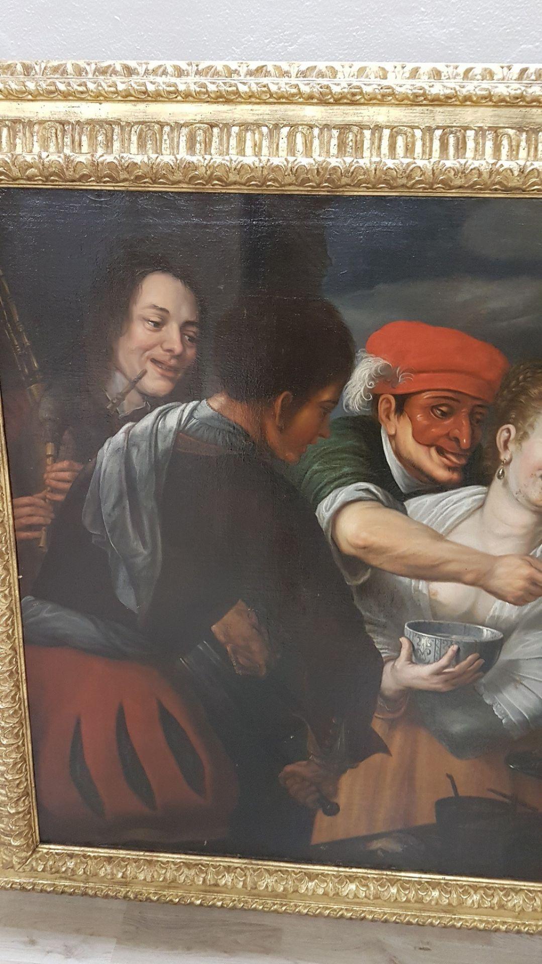 17th Century Floris Van Schooten Flemisch Large Antique Oil on Canvas Painting