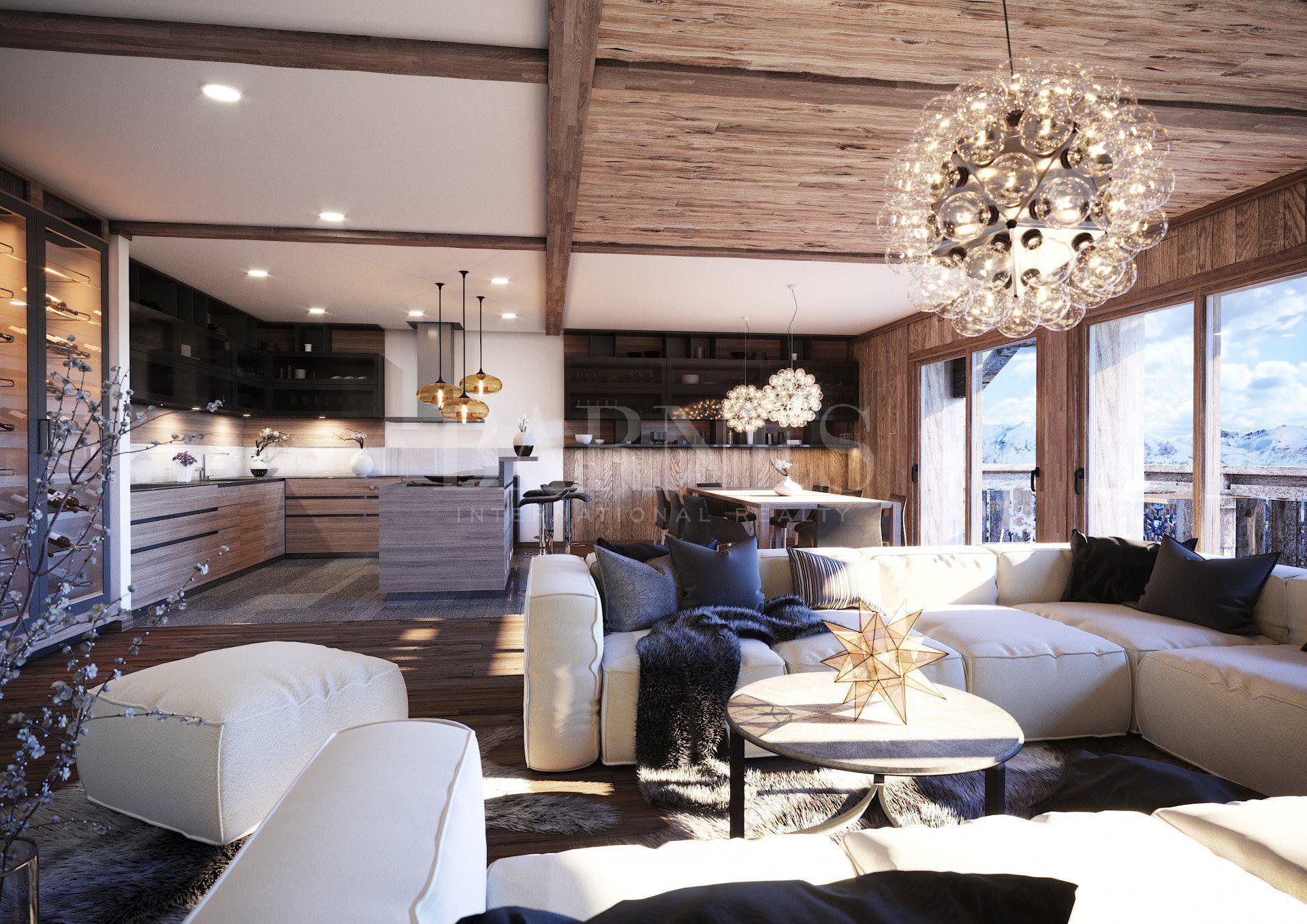 Stunning new 4 en-suite bedrooms. Ski in ski out.