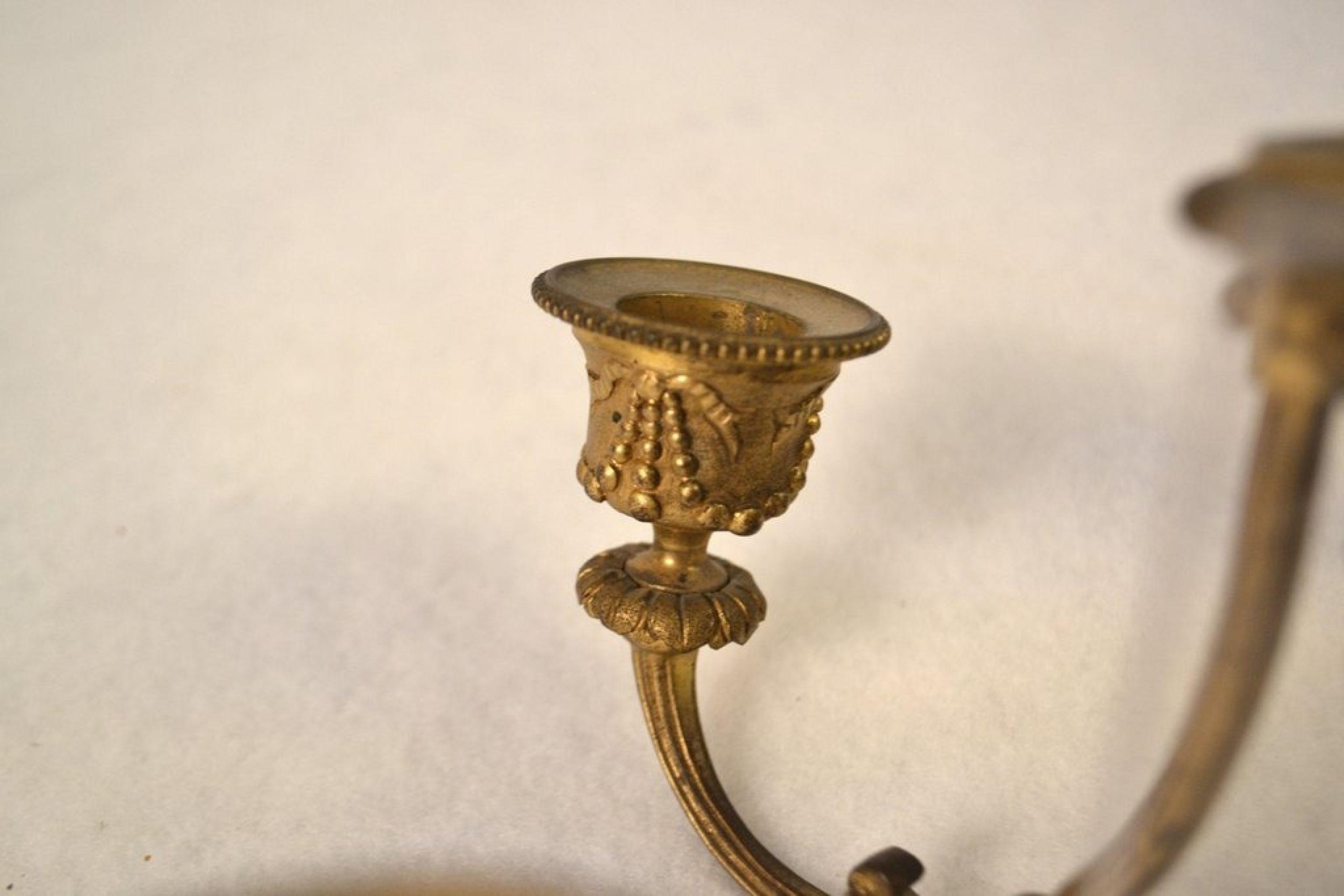 Louis XVI Small Hanging Bronze Light Fixture