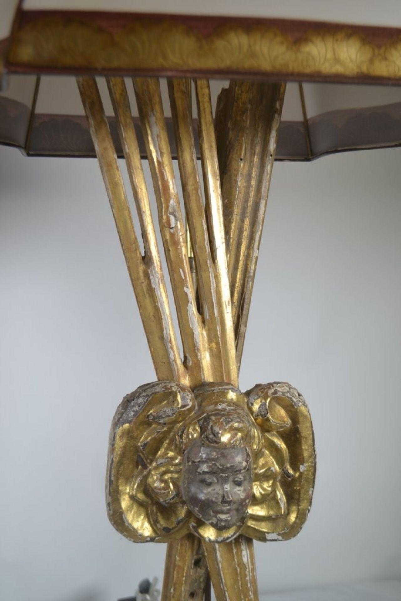 Pair Of Italian 18th C. Gilt wood Lamps