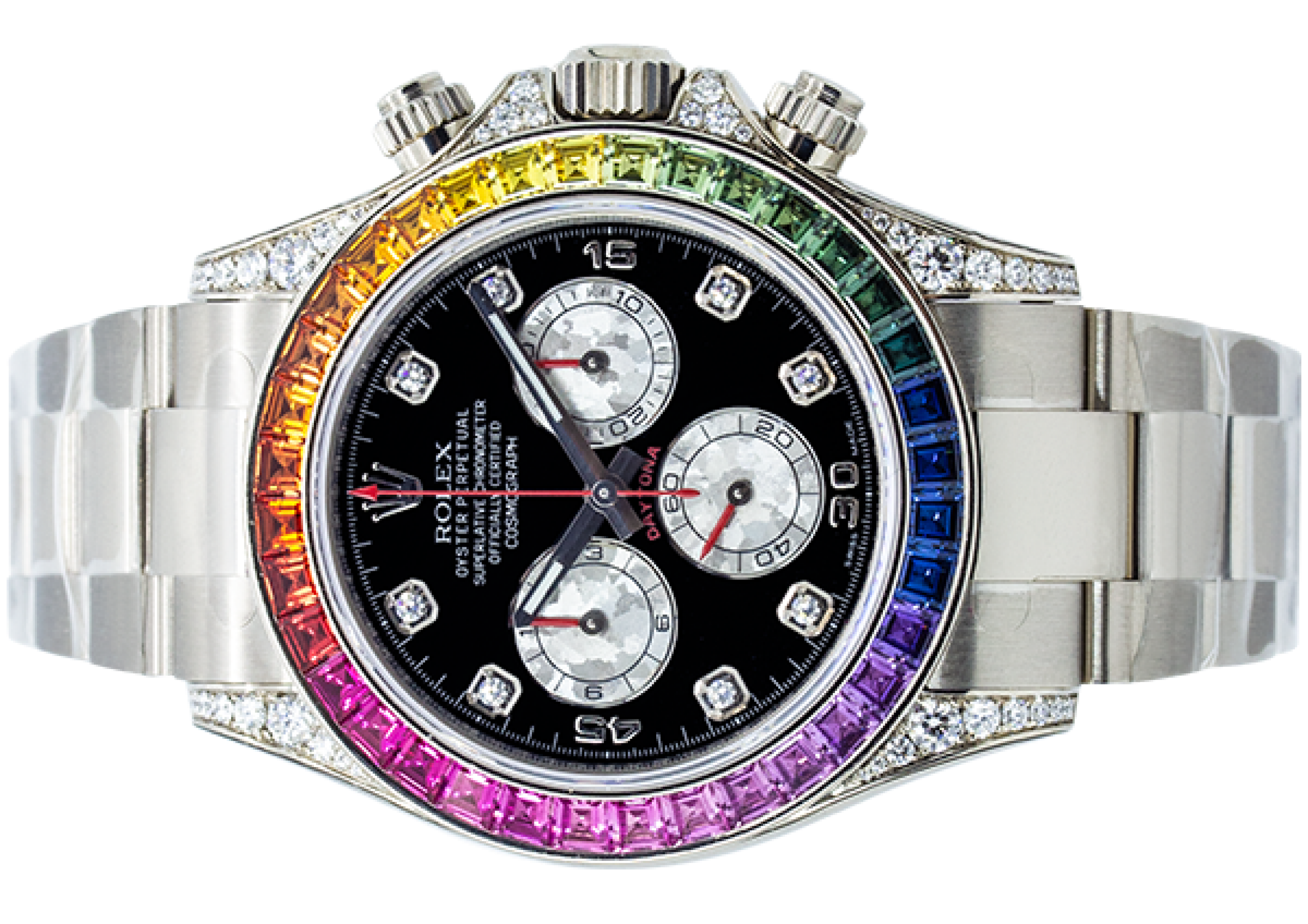 "Rolex Oyster Perpetual Daytona ""Rainbow"" White Gold"