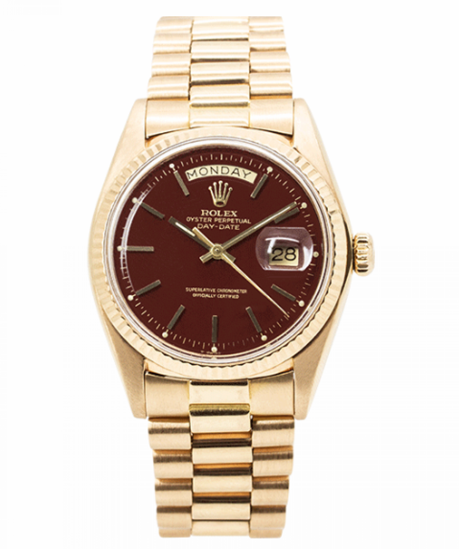 "Vintage Rolex Day-Date Stella ""Ox-Blood"" Rose Gold"