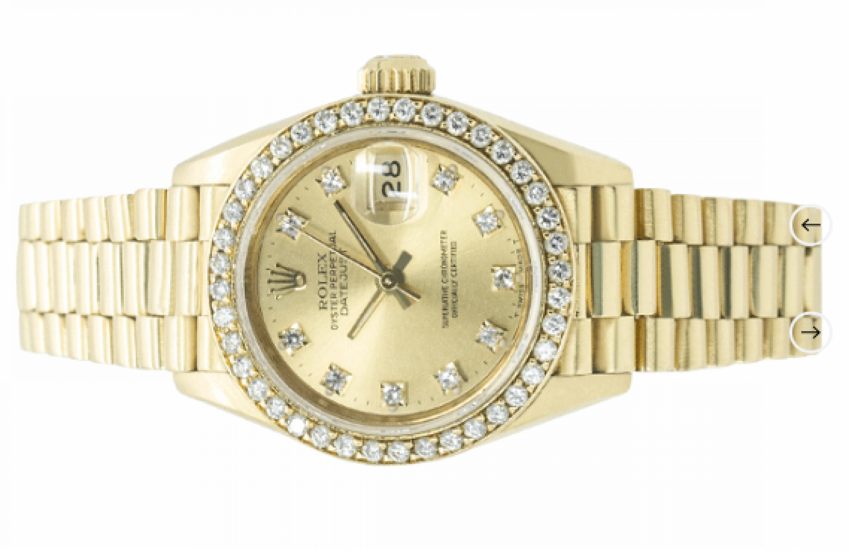 Rolex Oyster Perpetual Lady Datejust Yellow Gold 26mm
