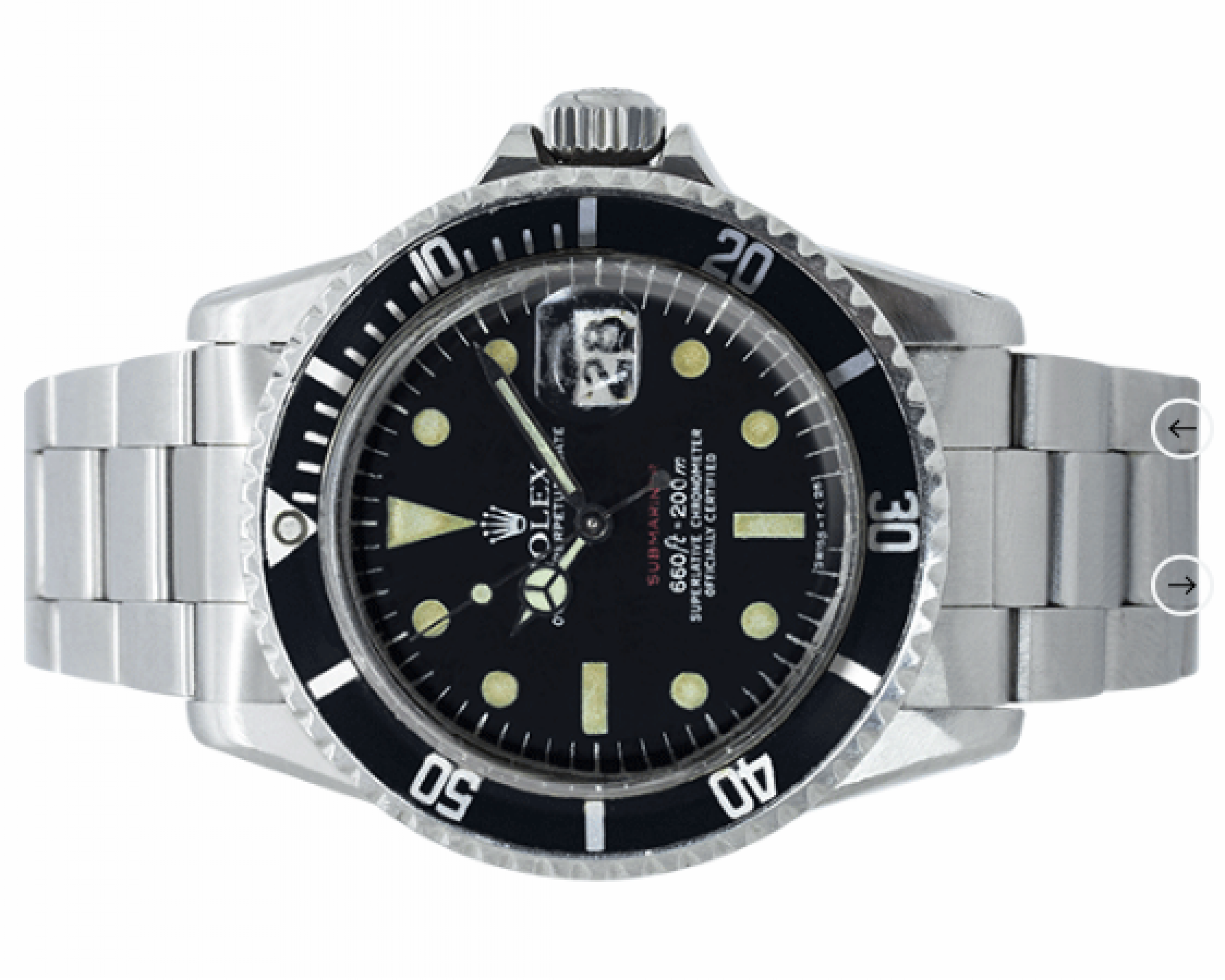 Rolex Oyster Perpetual Submariner Single Red Stainless Steel